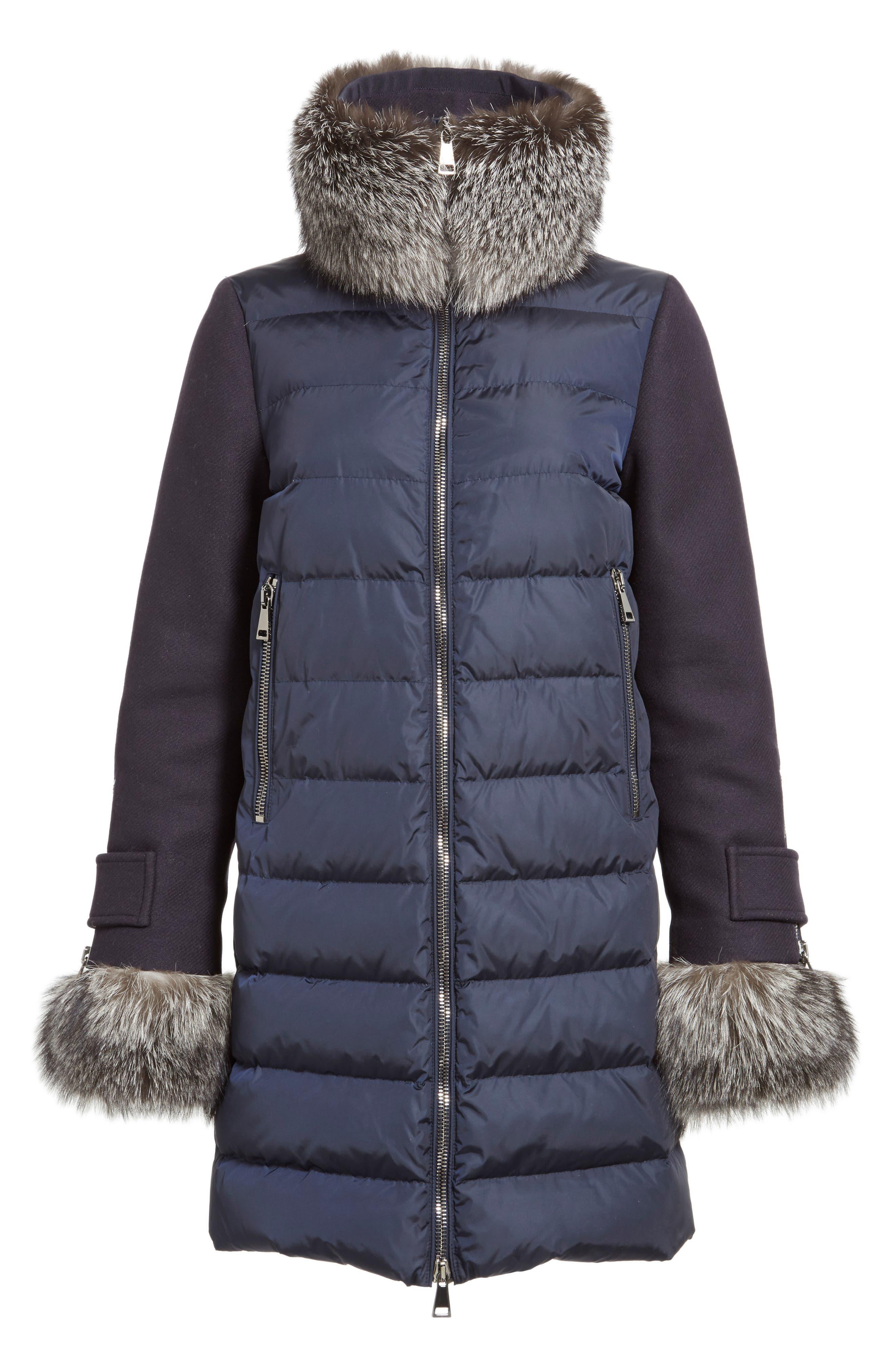 'Elestoria' Two-Piece Down Puffer Coat with Genuine Fox Fur Trim,                             Alternate thumbnail 6, color,                             419