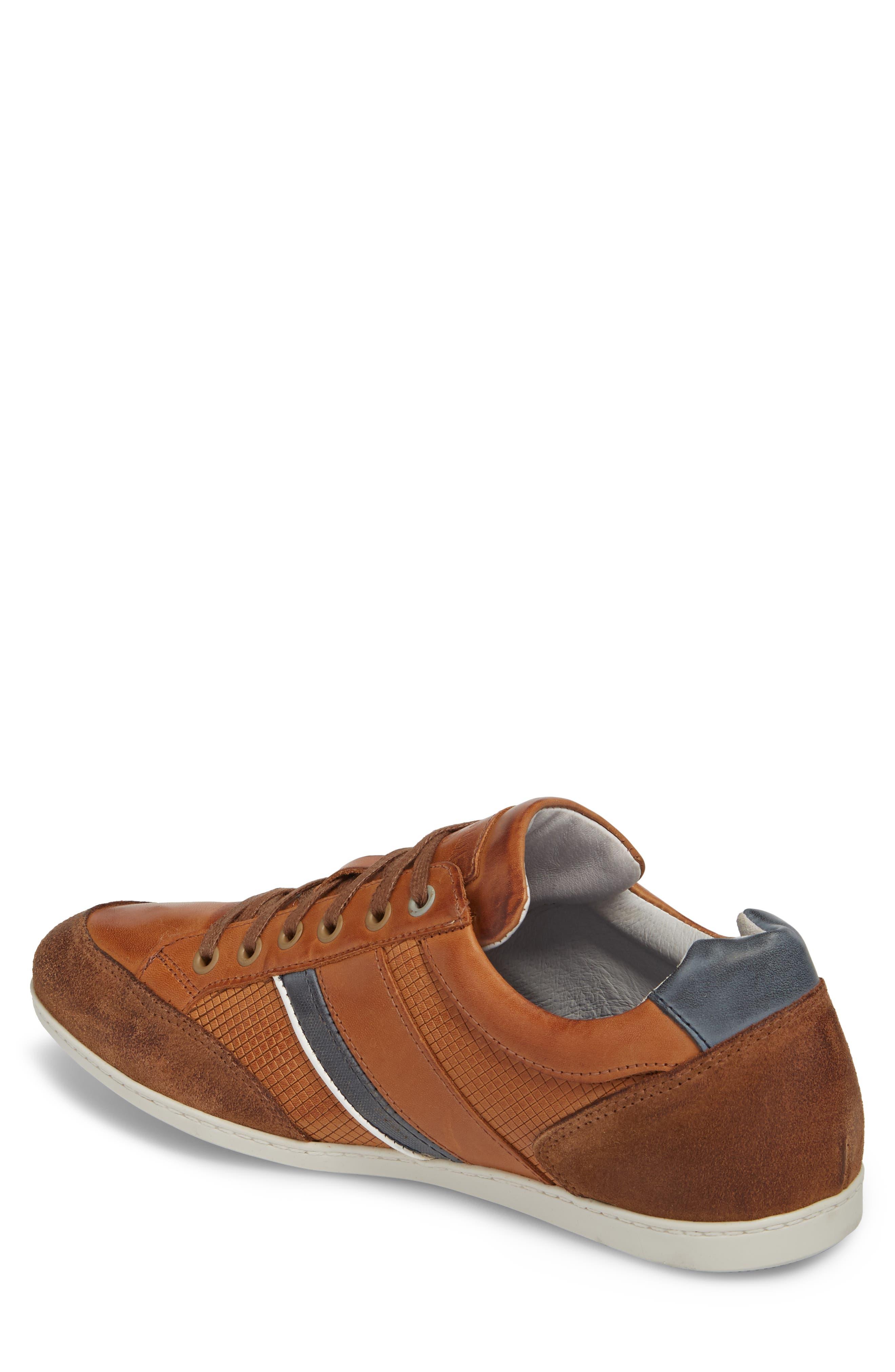 Bahamas Low Top Sneaker,                             Alternate thumbnail 2, color,                             COGNAC LEATHER