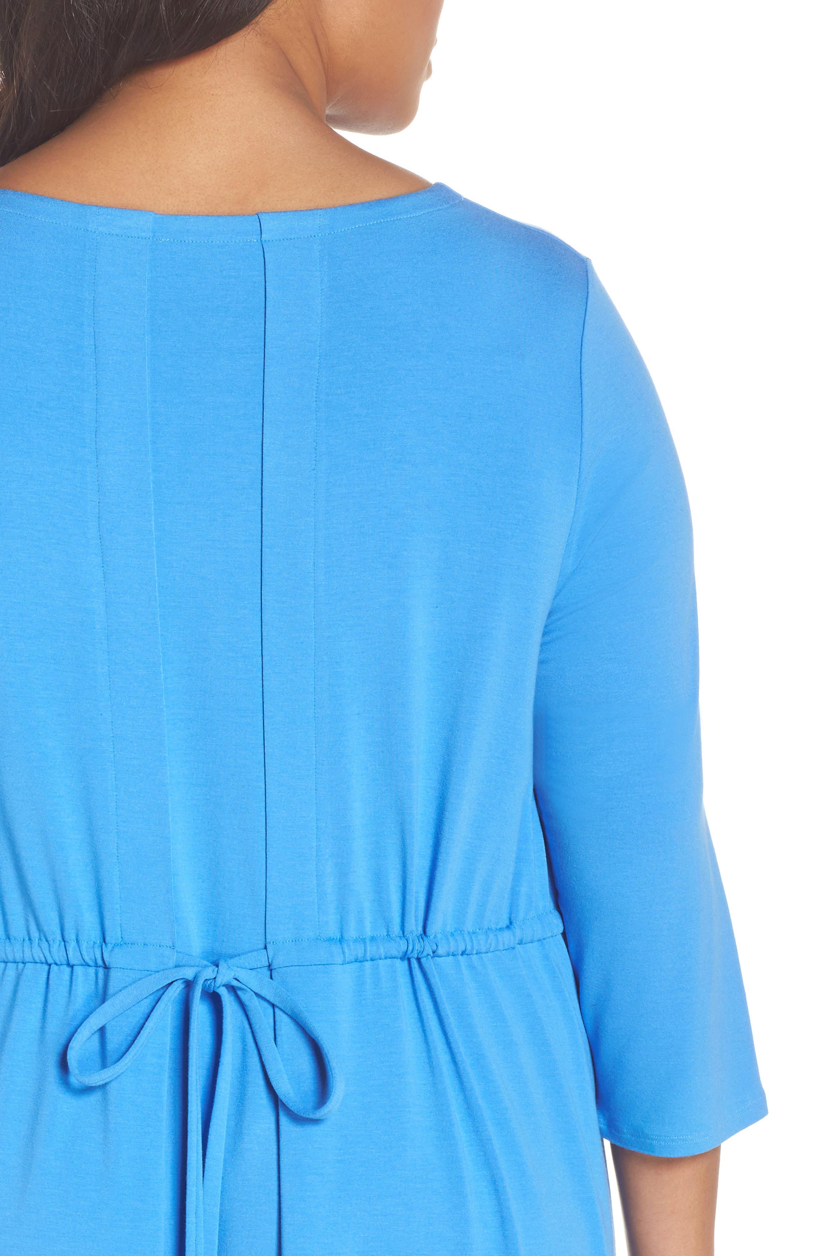 Jewel Neck Tie Back Dress,                             Alternate thumbnail 18, color,