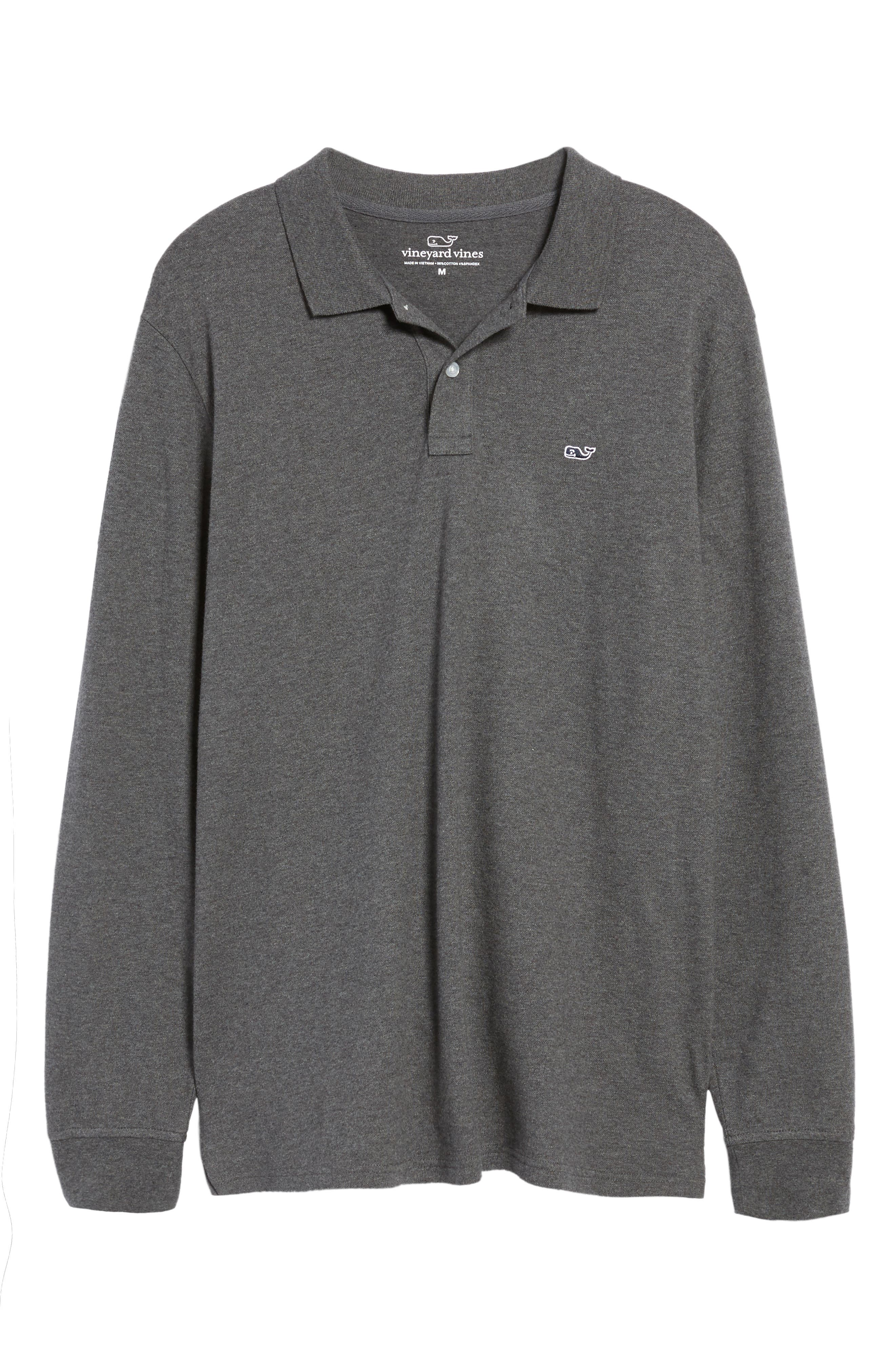 Long Sleeve Polo,                             Alternate thumbnail 6, color,                             025