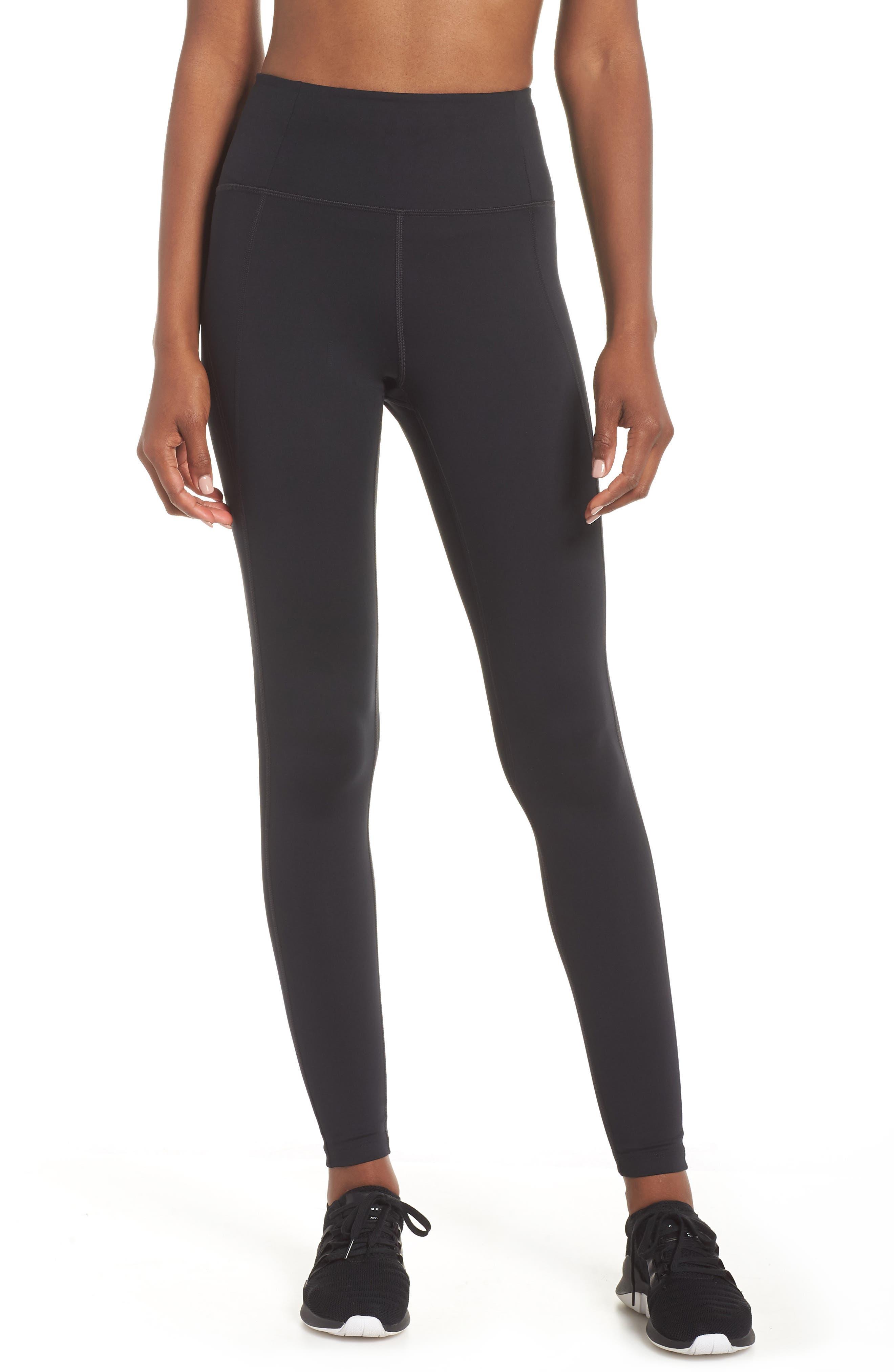 GIRLFRIEND COLLECTIVE High Waist Full Length Leggings, Main, color, BLACK