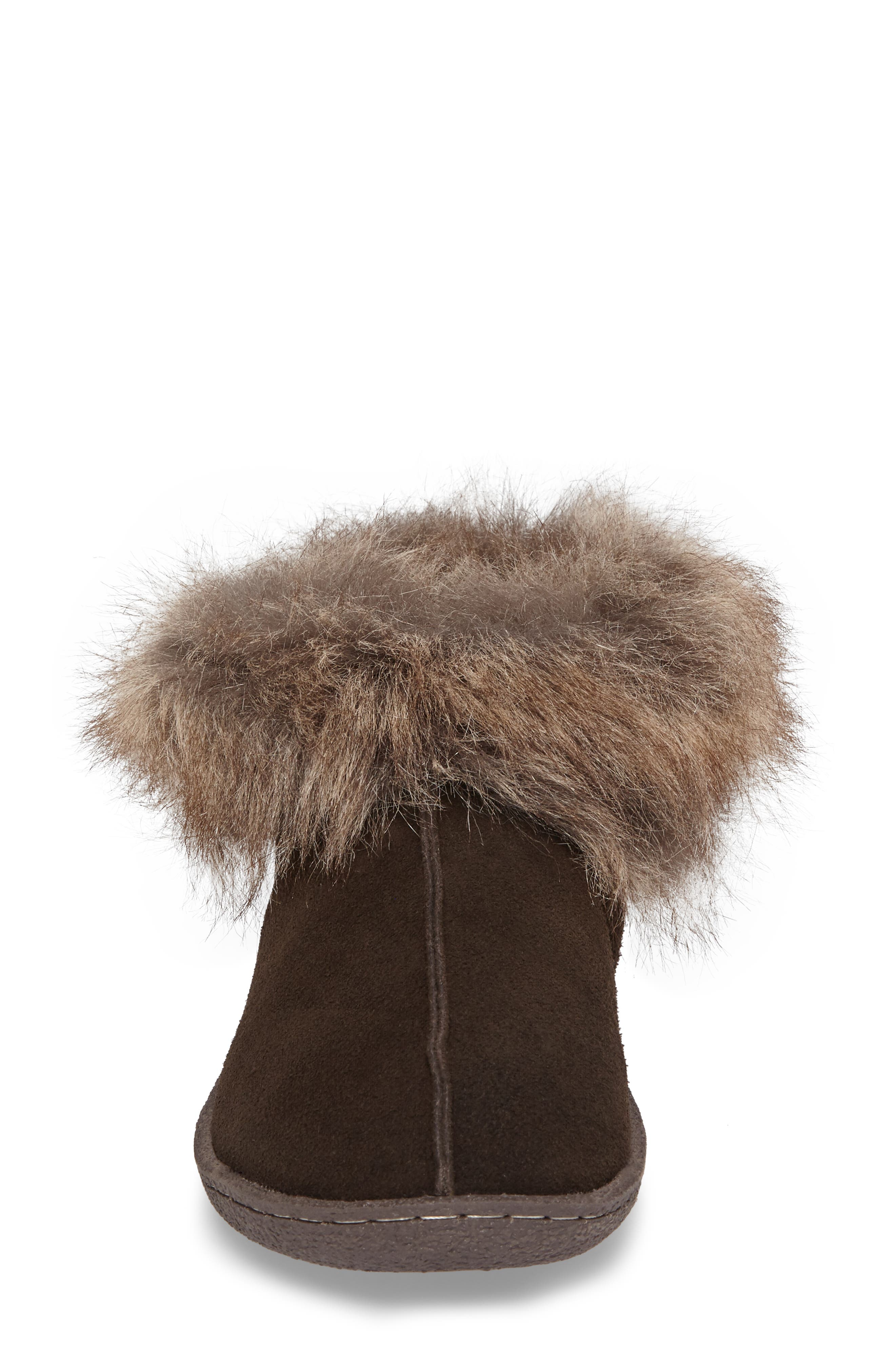 Autumn Ridge II Faux Fur Slipper Bootie,                             Alternate thumbnail 7, color,