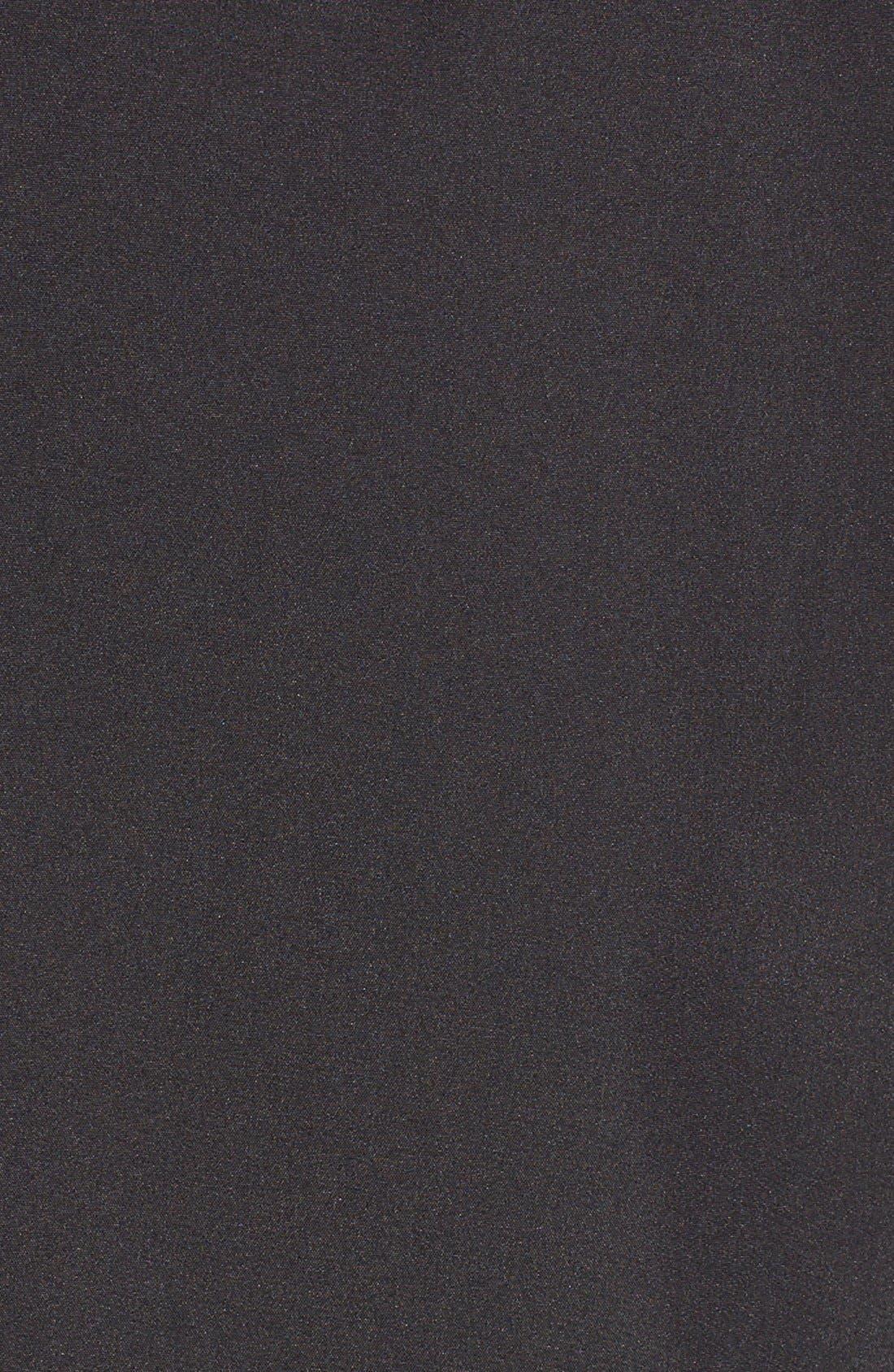 Faux Leather Trim Trench Coat,                             Alternate thumbnail 5, color,                             001