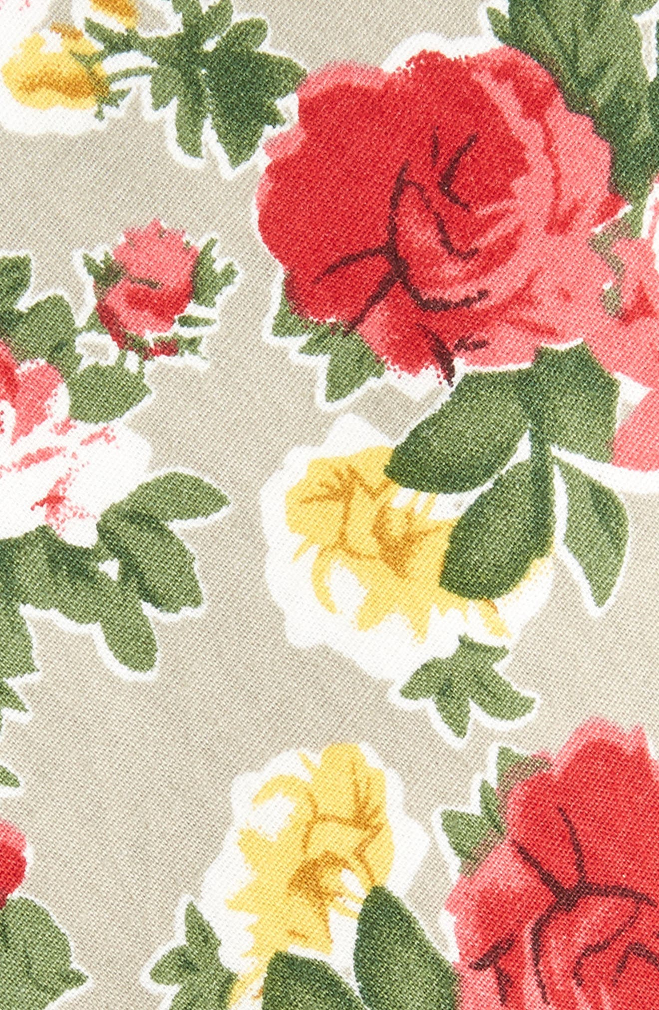 Iverson Floral Cotton Skinny Tie,                             Alternate thumbnail 3, color,