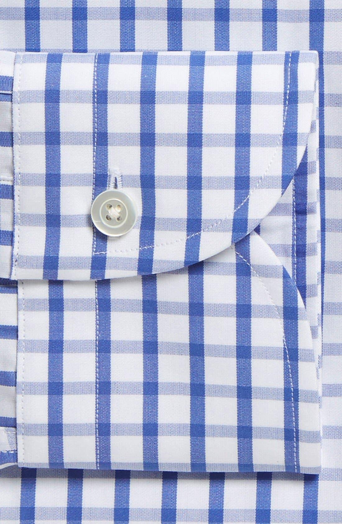 'Urbana Box' Classic Fit Check Dress Shirt,                             Alternate thumbnail 2, color,                             BLUE