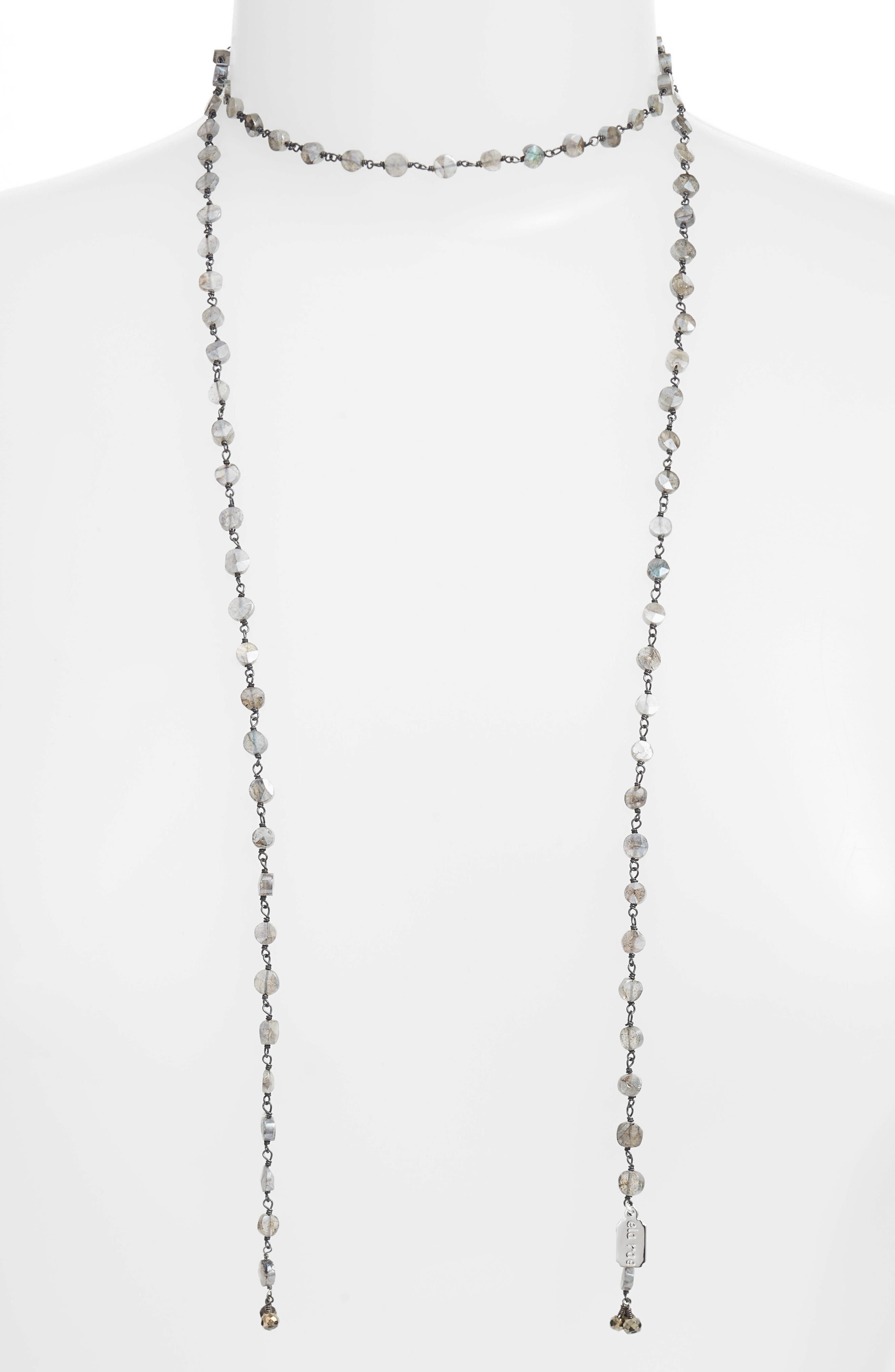Diana Lariat Necklace,                         Main,                         color, MYSTIC LABRADORITE COIN
