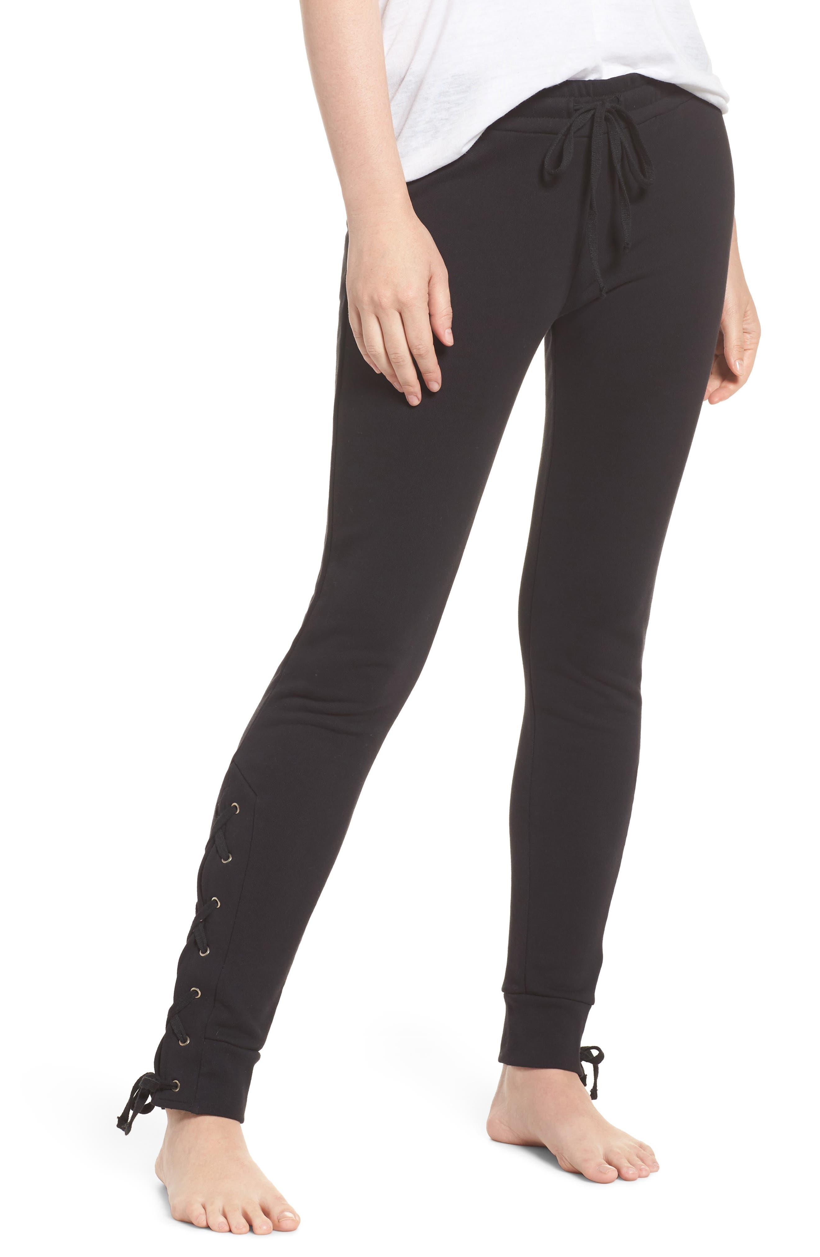 Lace Up Lounge Pants,                         Main,                         color, 001
