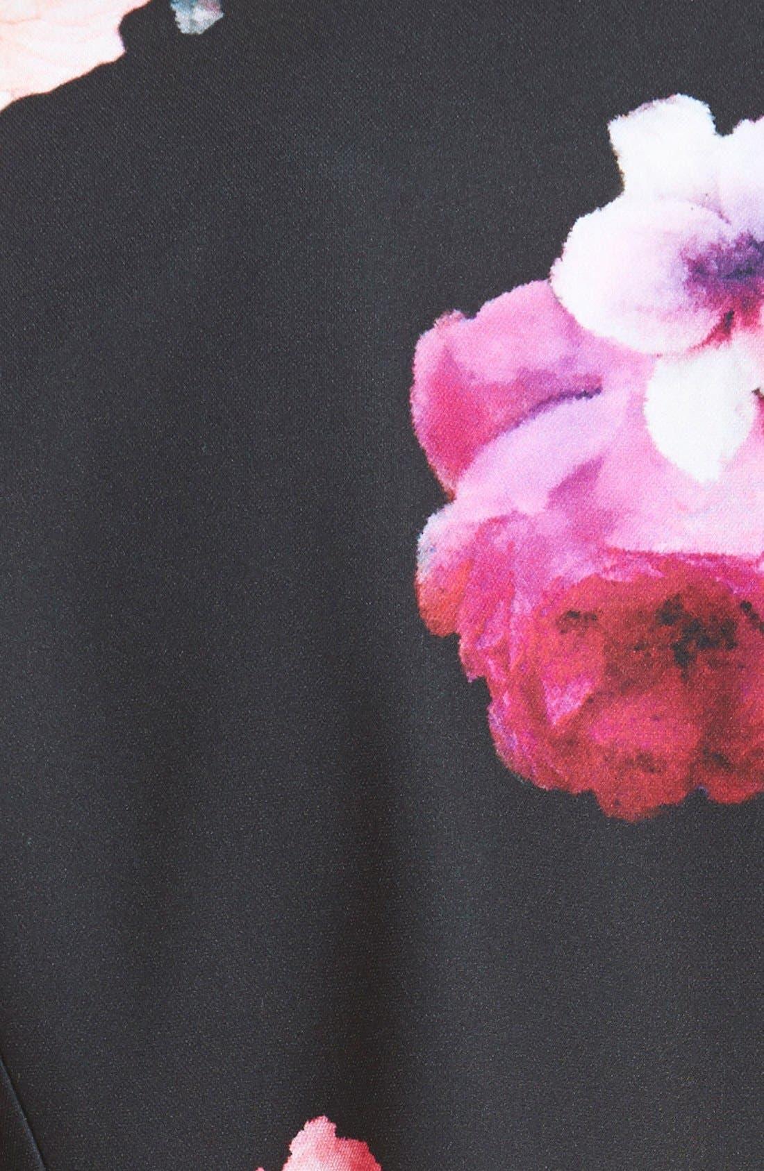 Floral Print Crop Jacket,                             Alternate thumbnail 2, color,                             011