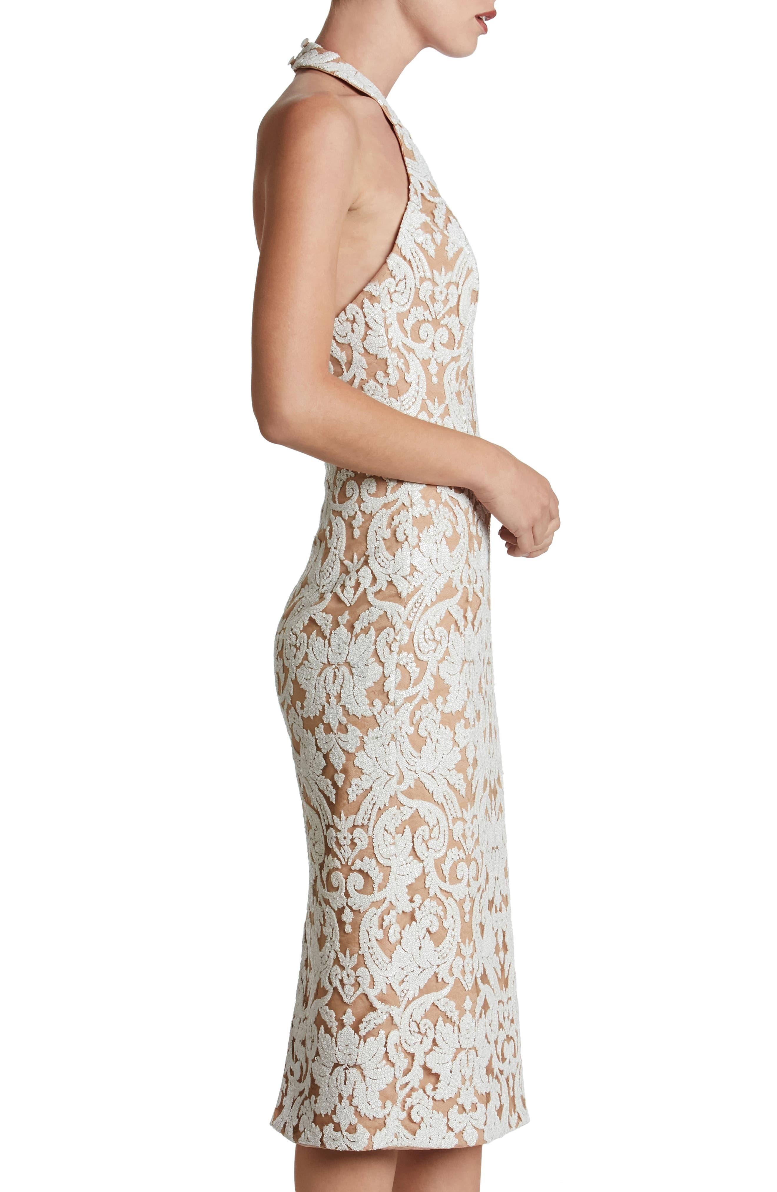 Cassie Sequin Midi Dress,                             Alternate thumbnail 17, color,