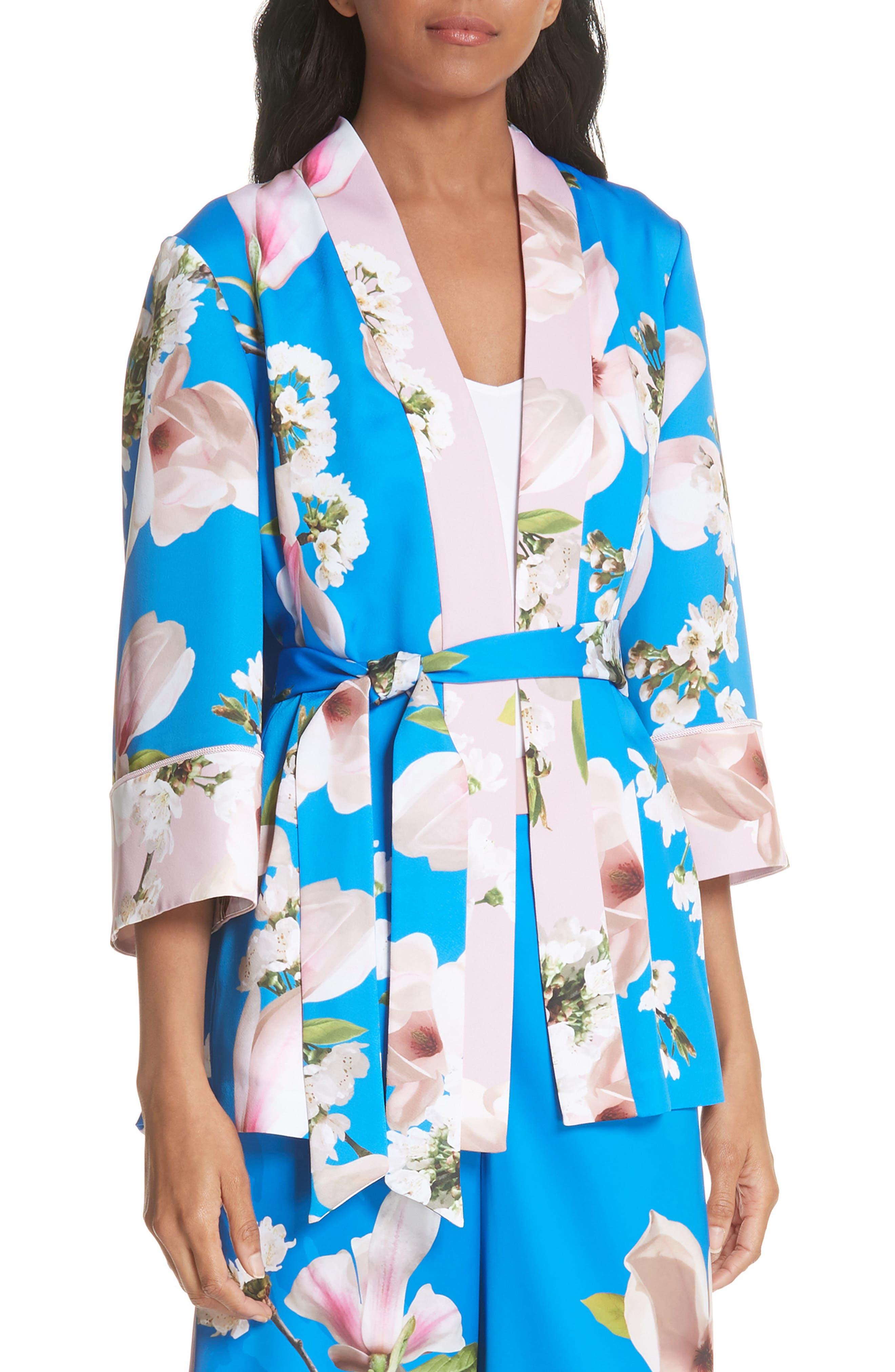 Harmony Pleat Back Kimono Jacket,                             Main thumbnail 1, color,