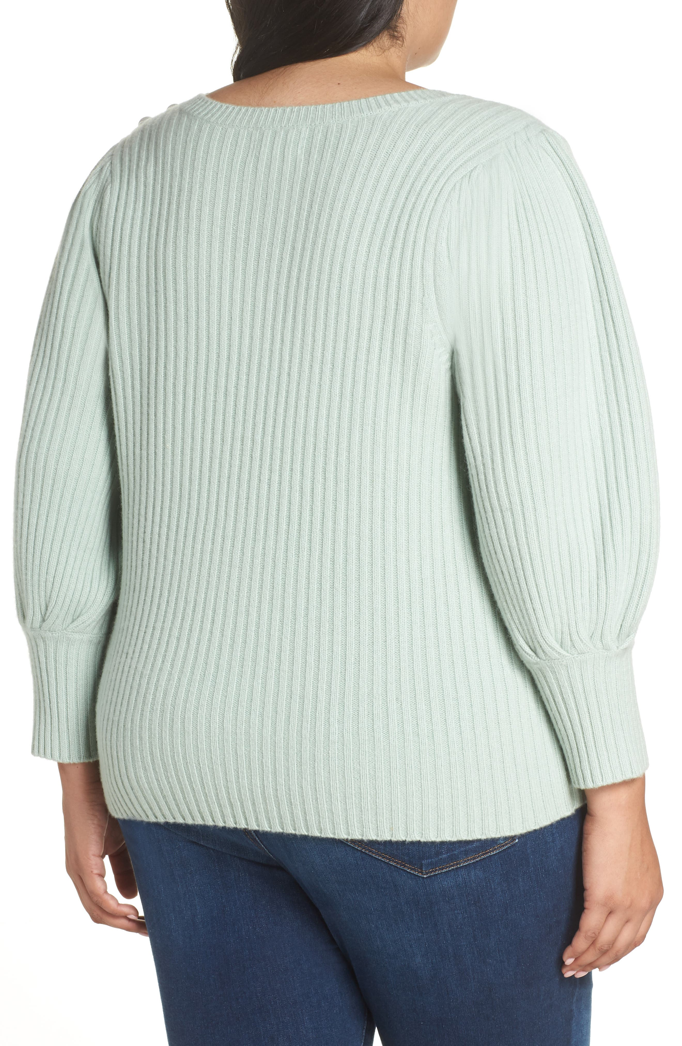 x Atlantic-Pacific Balloon Sleeve Wool & Cashmere Sweater,                             Alternate thumbnail 2, color,                             330