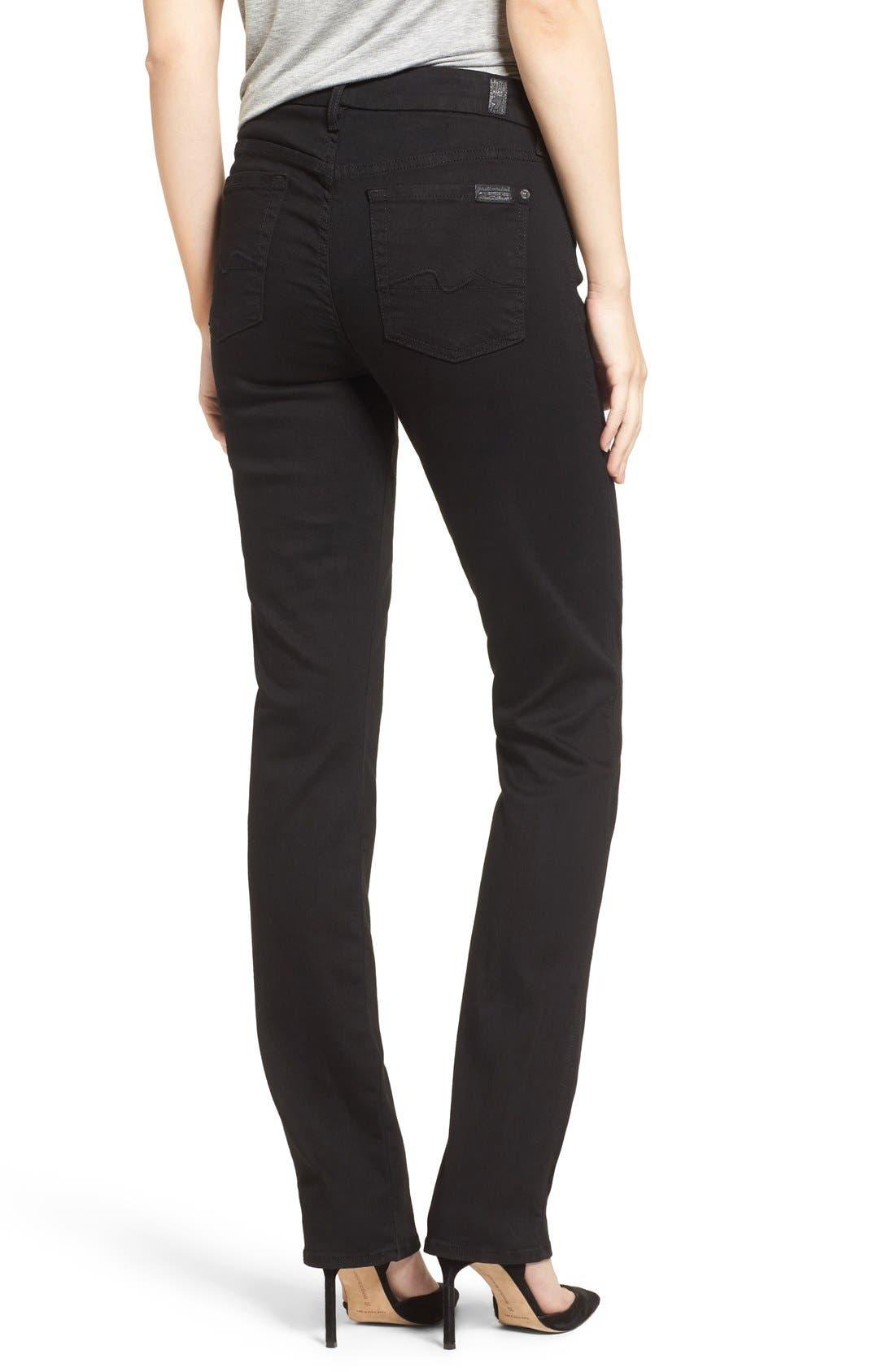 7 FOR ALL MANKIND<SUP>®</SUP>,                             'b(air) - Kimmie' Straight Leg Jeans,                             Alternate thumbnail 4, color,                             BAIR BLACK