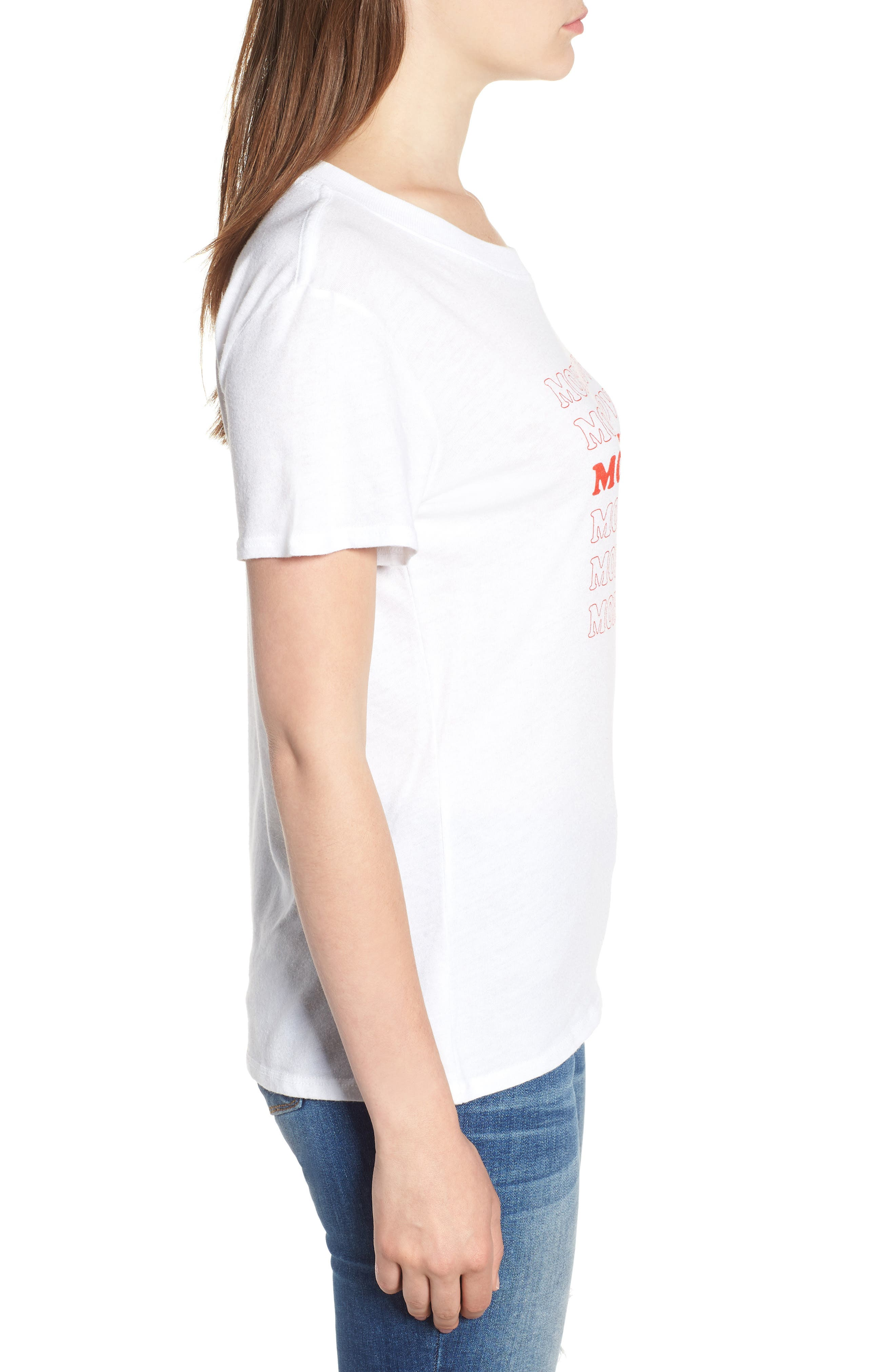 More Love Slouched Tee,                             Alternate thumbnail 3, color,                             100