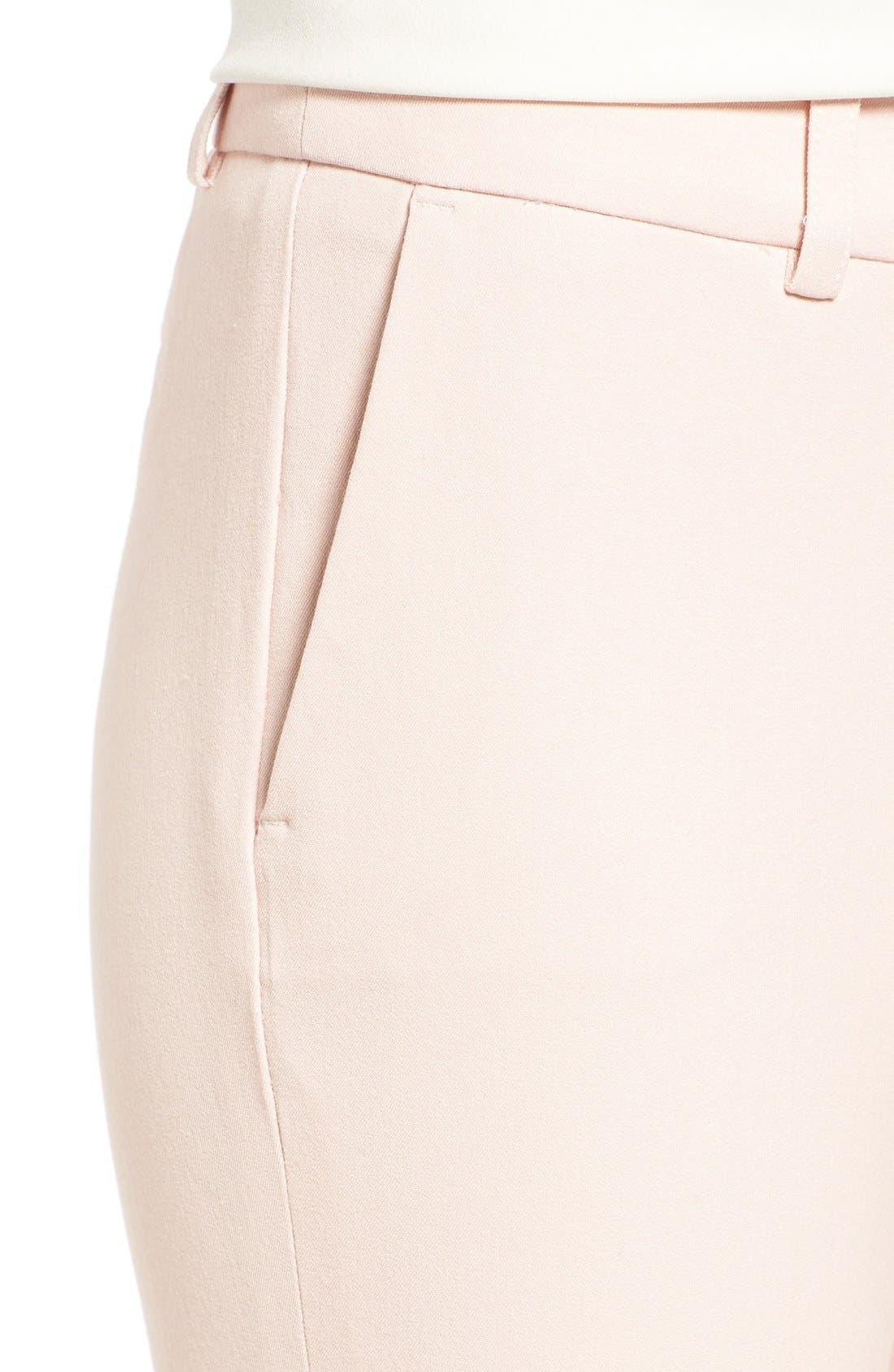 Crop Stretch Cotton Pants,                             Alternate thumbnail 138, color,