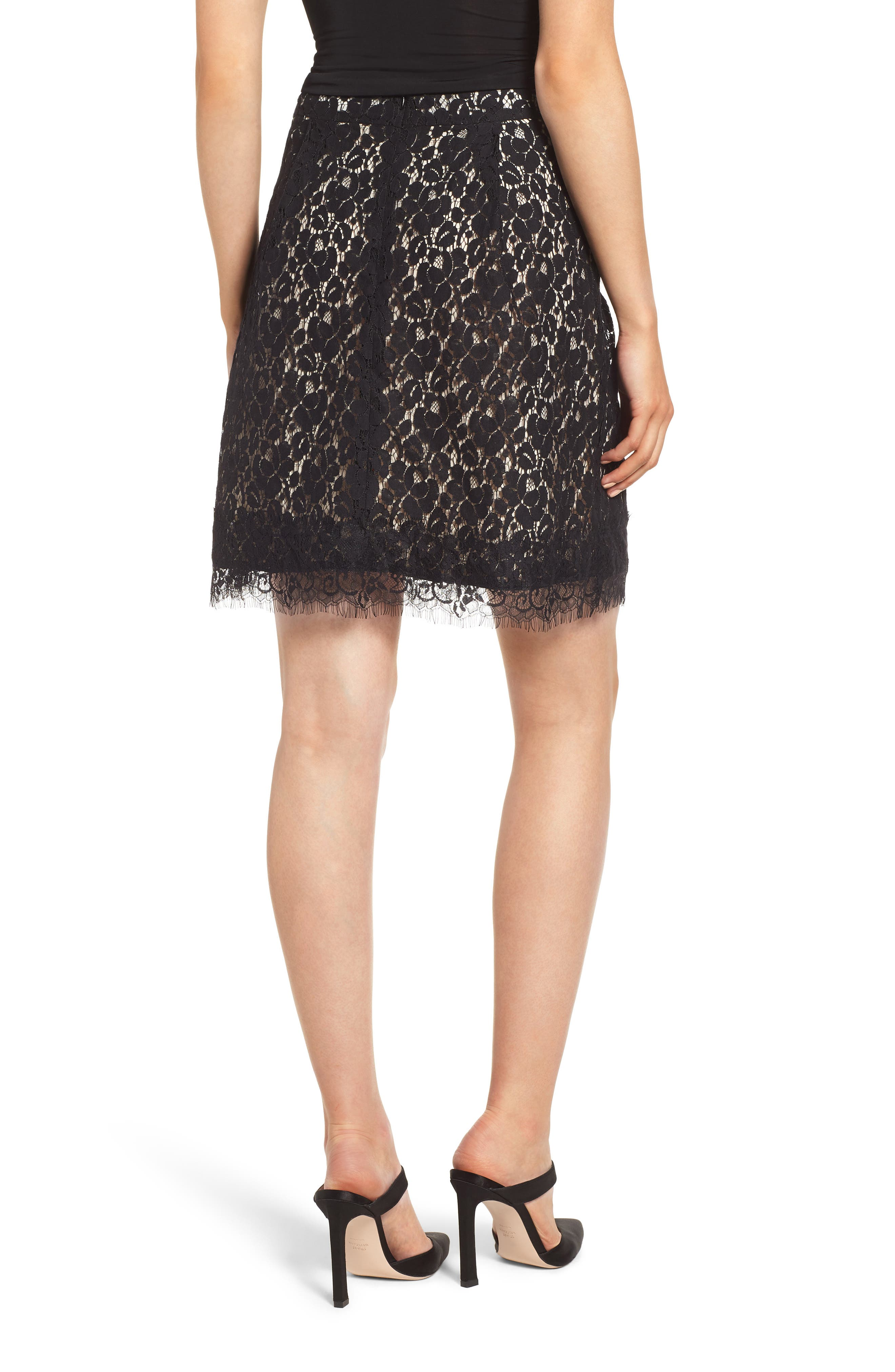 GIBSON,                             x Glam Squad Lace Skirt,                             Alternate thumbnail 3, color,                             017