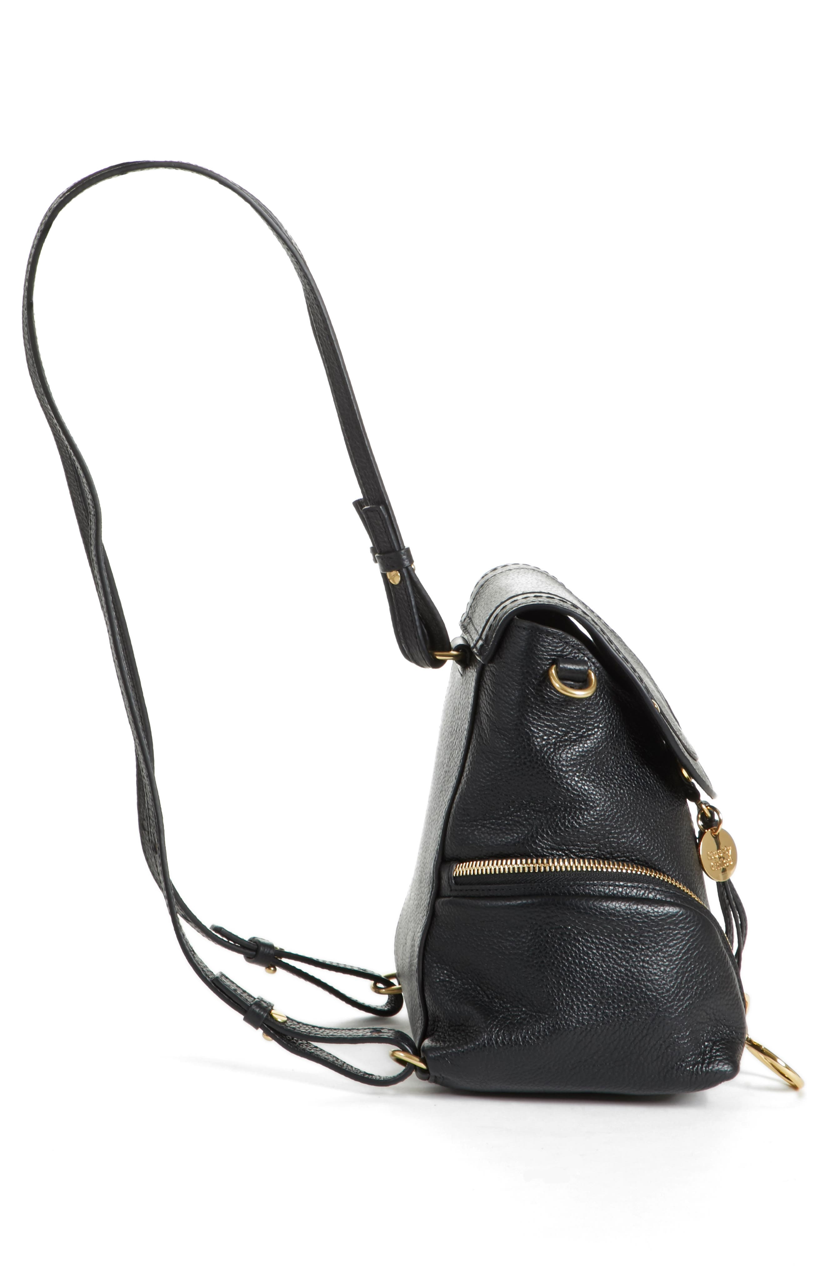 Small Olga Leather Backpack,                             Alternate thumbnail 13, color,
