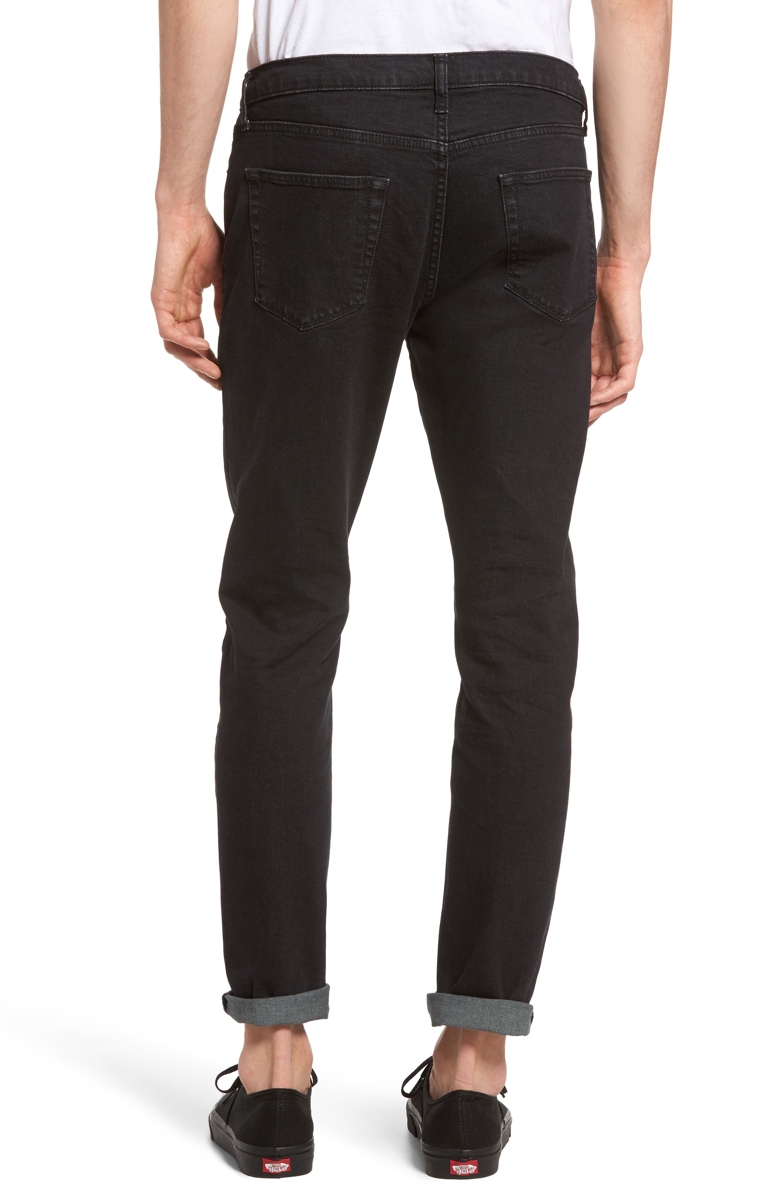 Washed Slim Fit Jeans,                             Alternate thumbnail 2, color,                             001