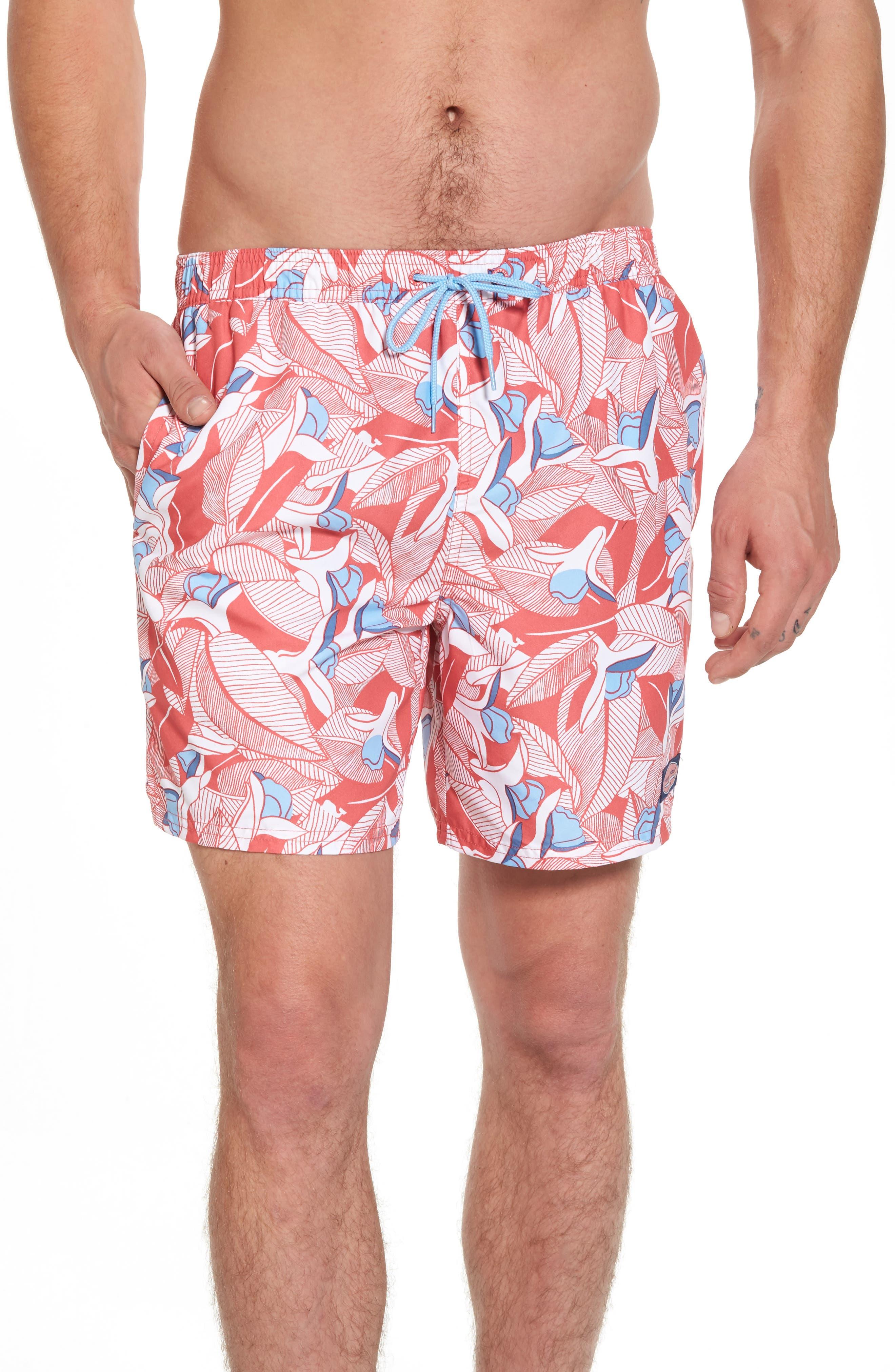 Chappy Floral Swim Trunks,                         Main,                         color, 628