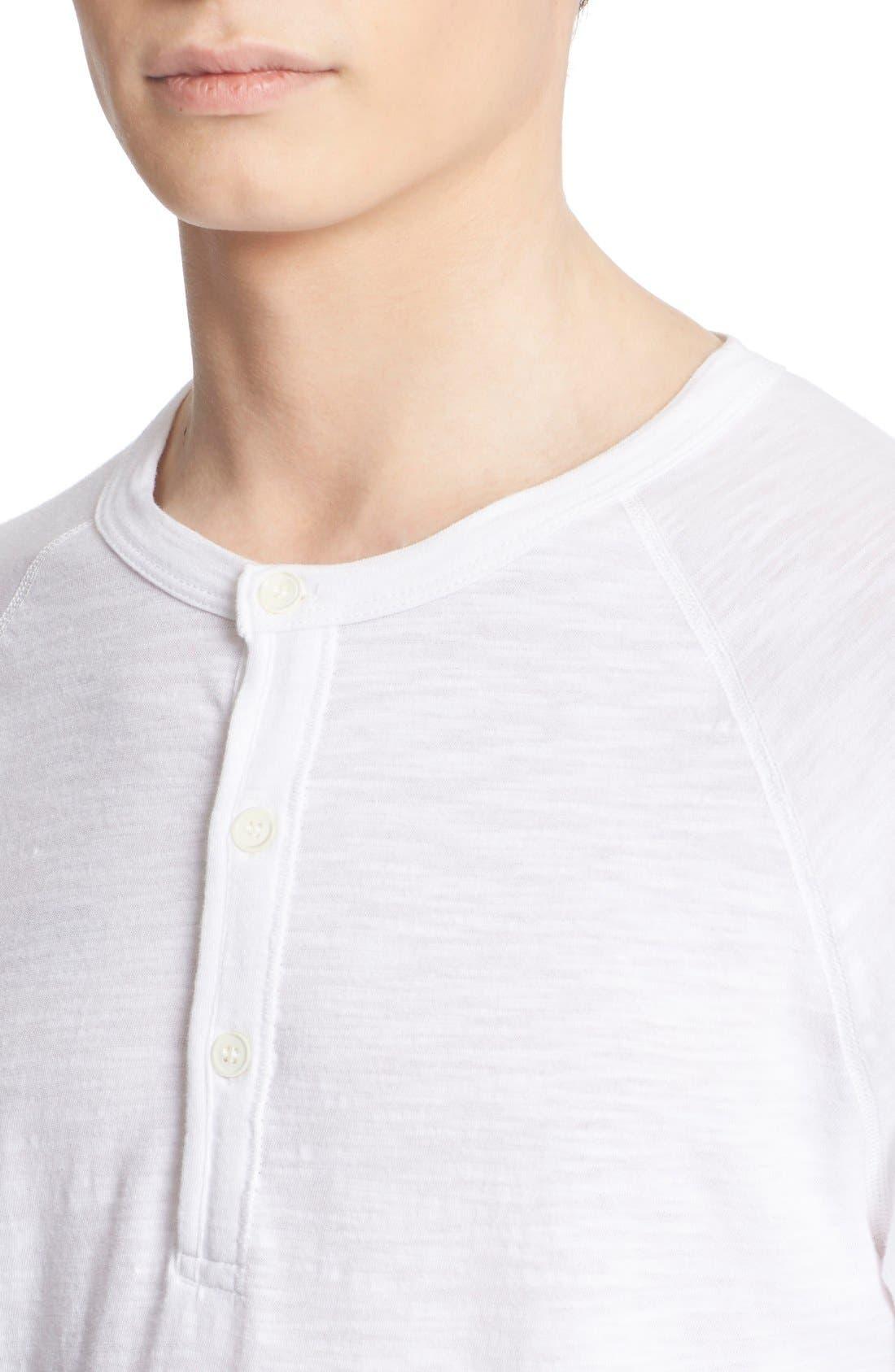 Long Sleeve Cotton Jersey Henley,                             Alternate thumbnail 4, color,