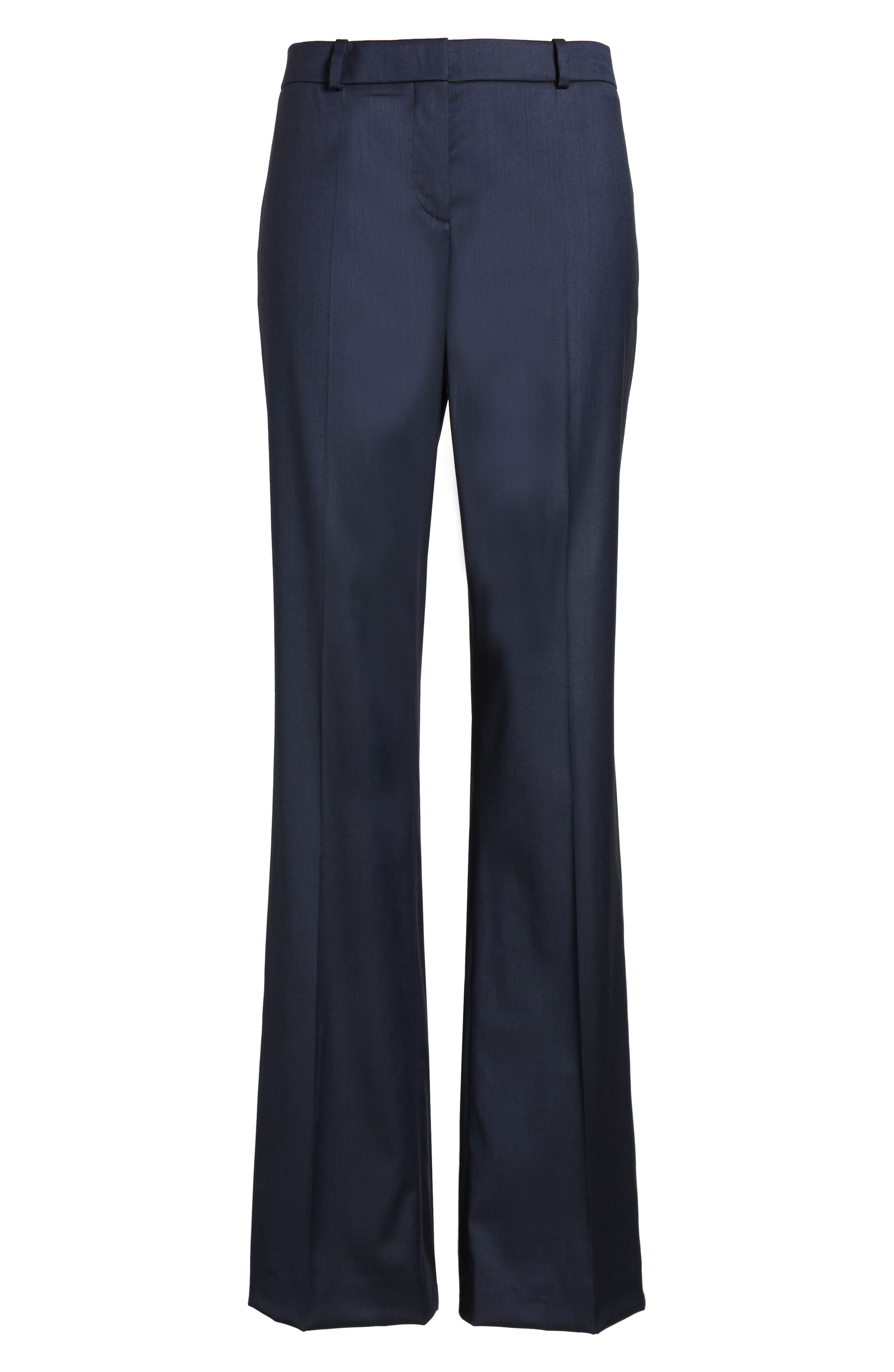 Stretch Wool Blend Suit Trousers,                             Alternate thumbnail 5, color,                             424
