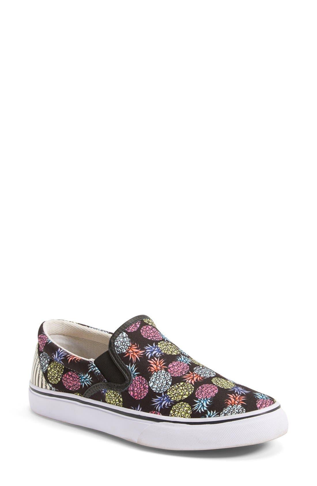 'Adele - Pineapple' Satin Slip-On Sneaker,                             Main thumbnail 1, color,                             001