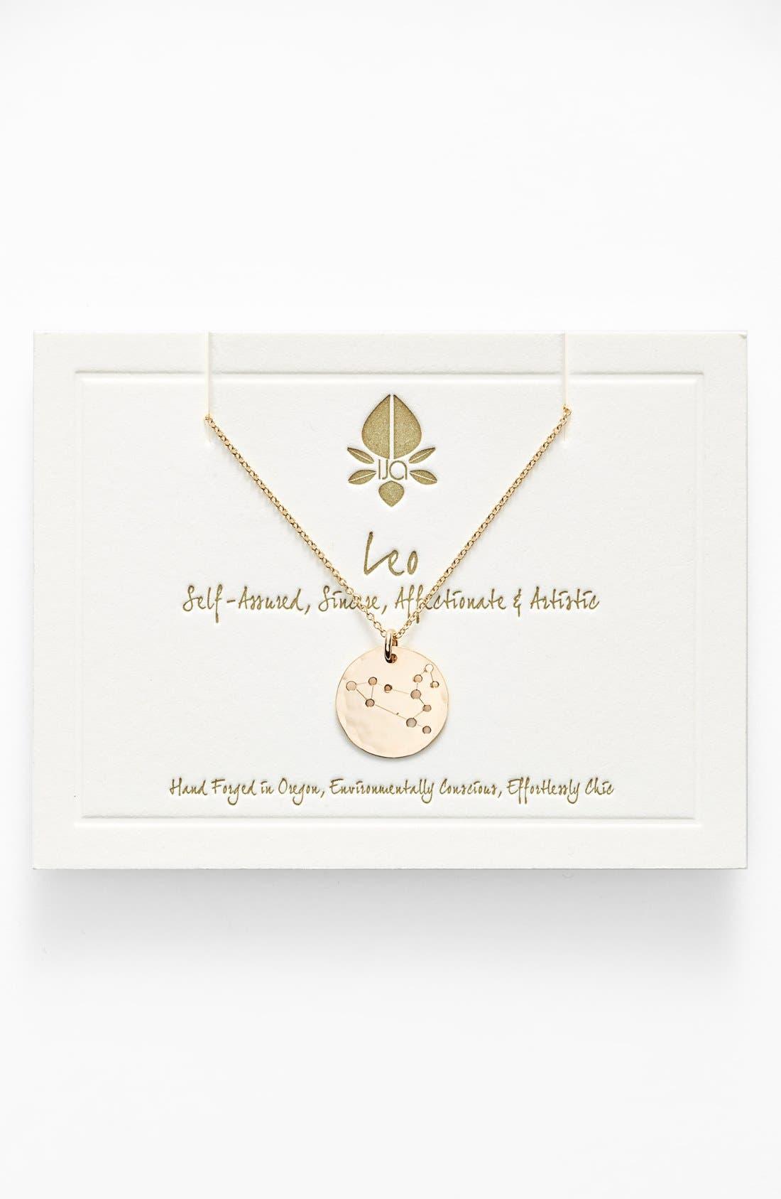 Ija 'Small Zodiac' 14k-Gold Fill Necklace,                             Main thumbnail 5, color,
