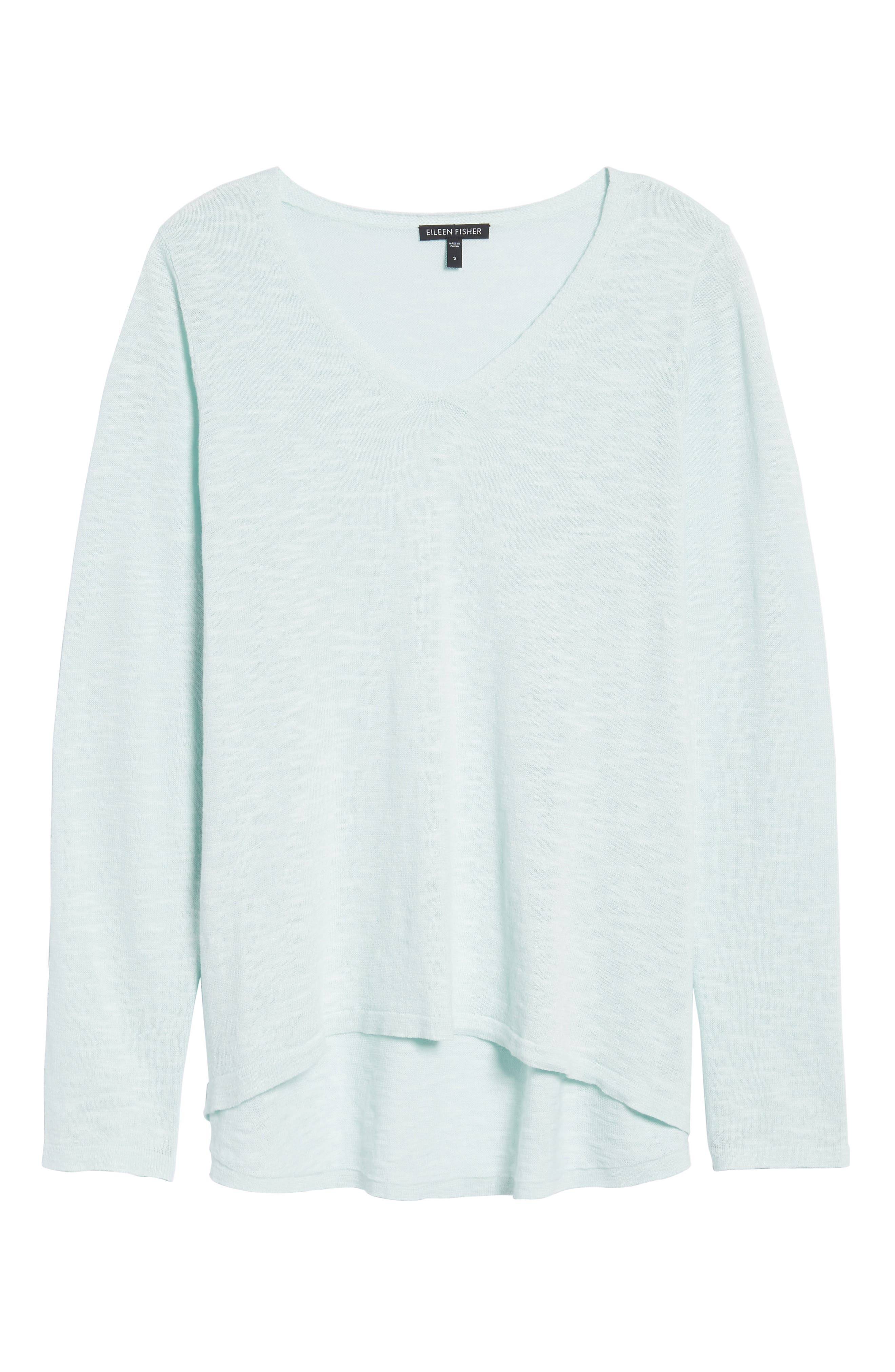 Organic Linen & Cotton V-Neck Sweater,                             Alternate thumbnail 22, color,