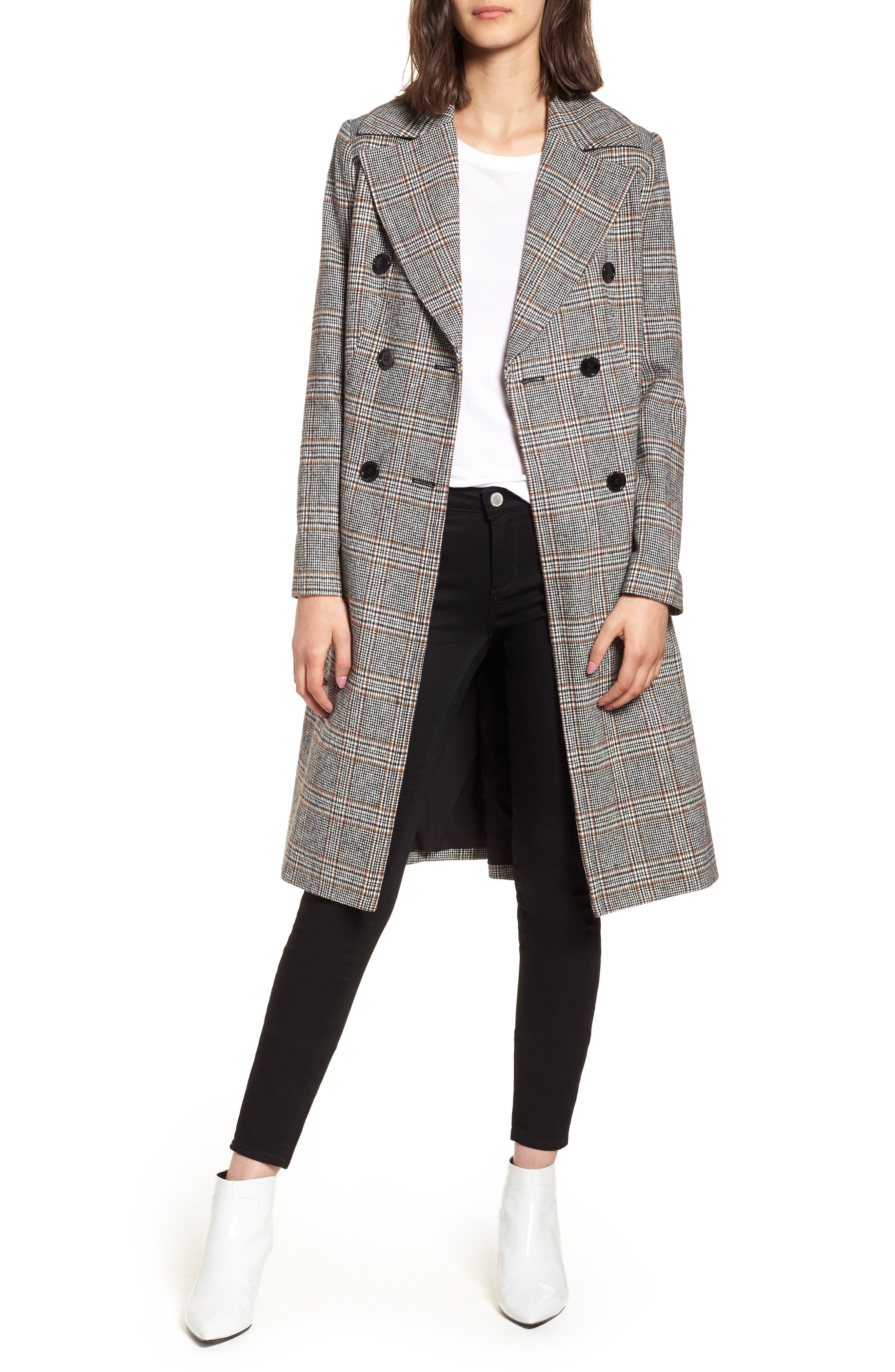 MURAL Blazer Midi Coat, Main, color, 001