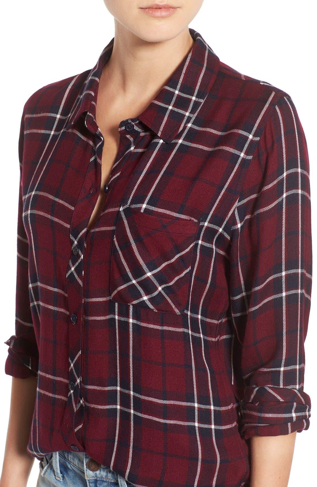 Hunter Plaid Shirt,                             Alternate thumbnail 672, color,