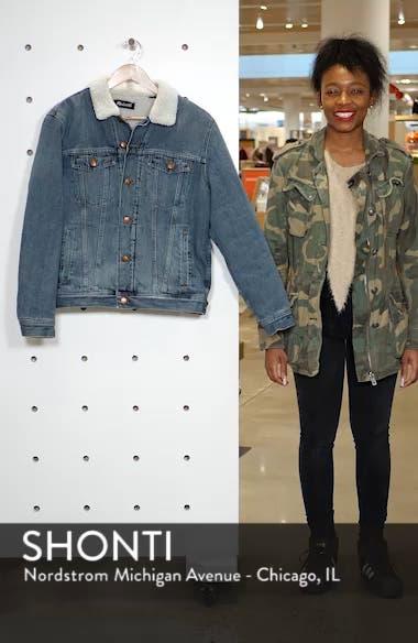 Faux Fur Lined Jean Jacket, sales video thumbnail