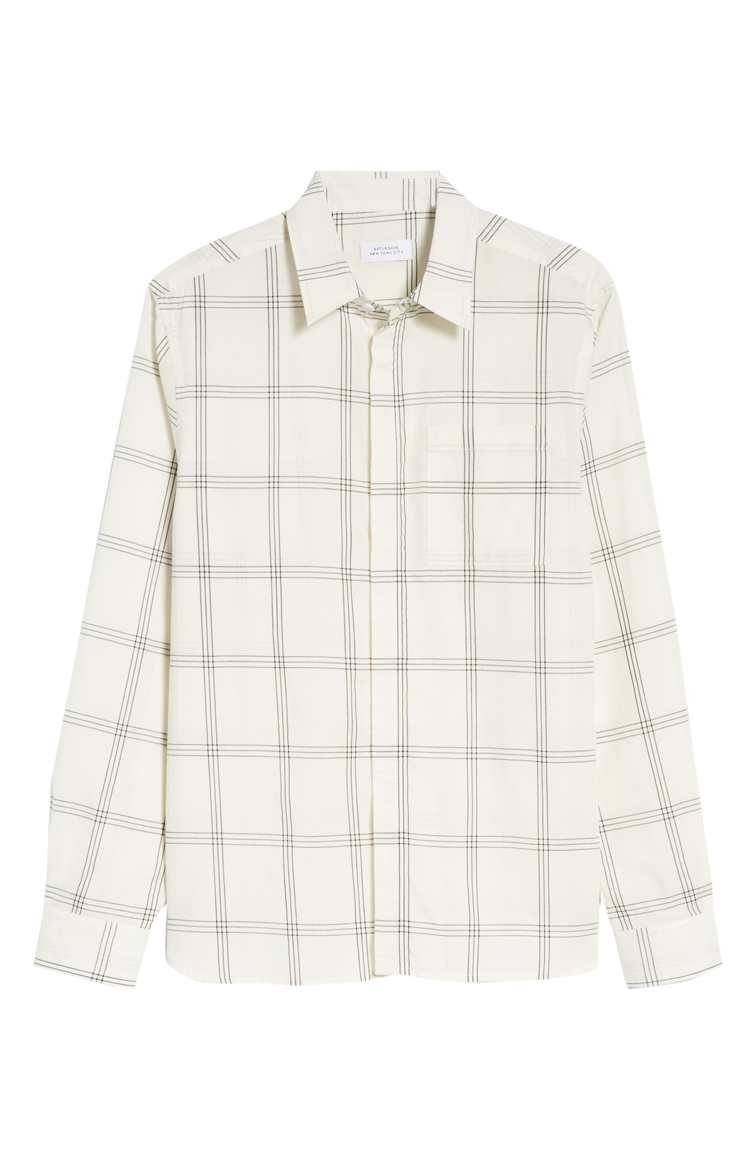 Mickey Windowpane Woven Shirt,                             Alternate thumbnail 6, color,                             WHITE