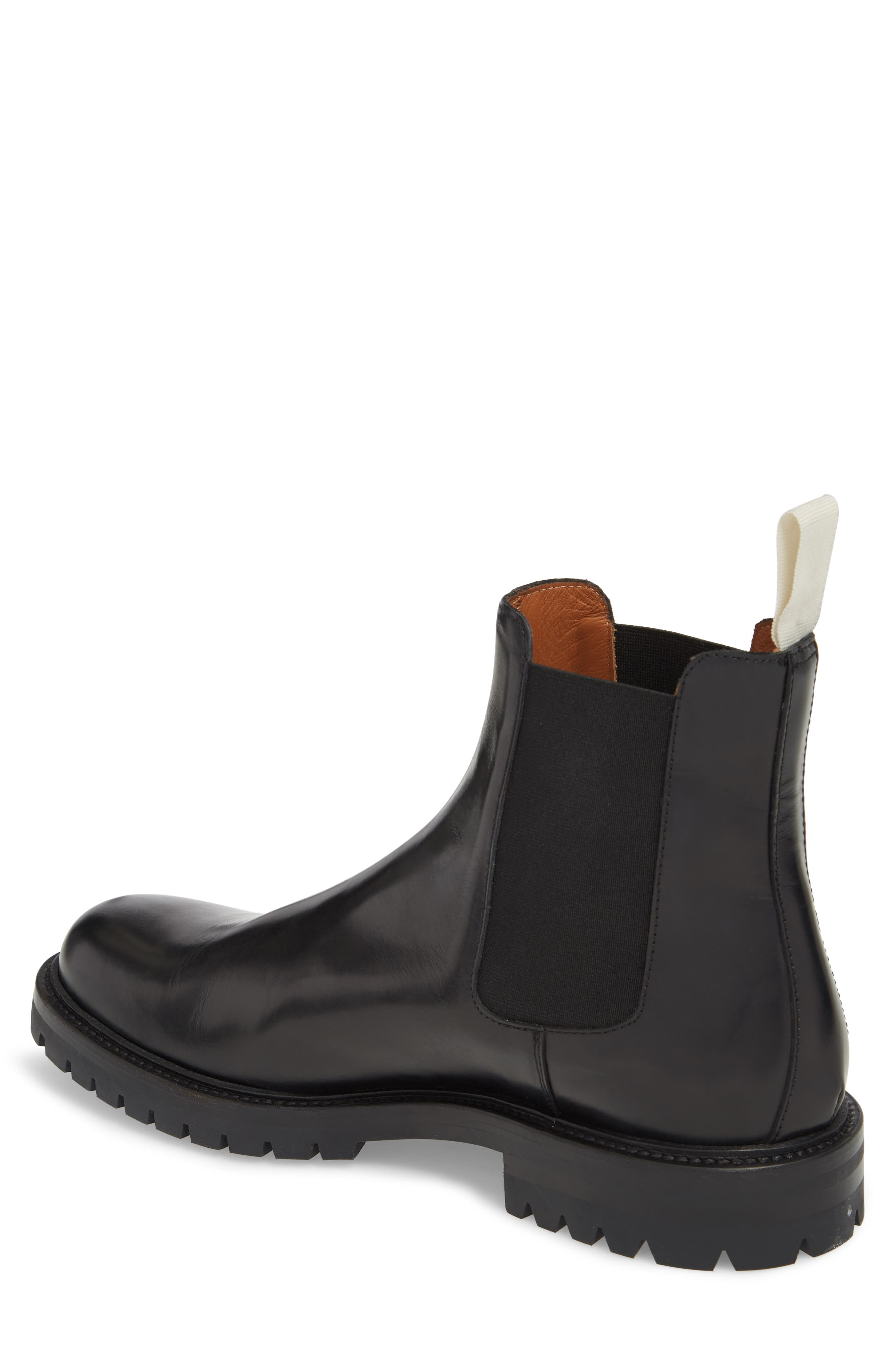 COMMON PROJECTS,                             Lugged Chelsea Boot,                             Alternate thumbnail 2, color,                             001