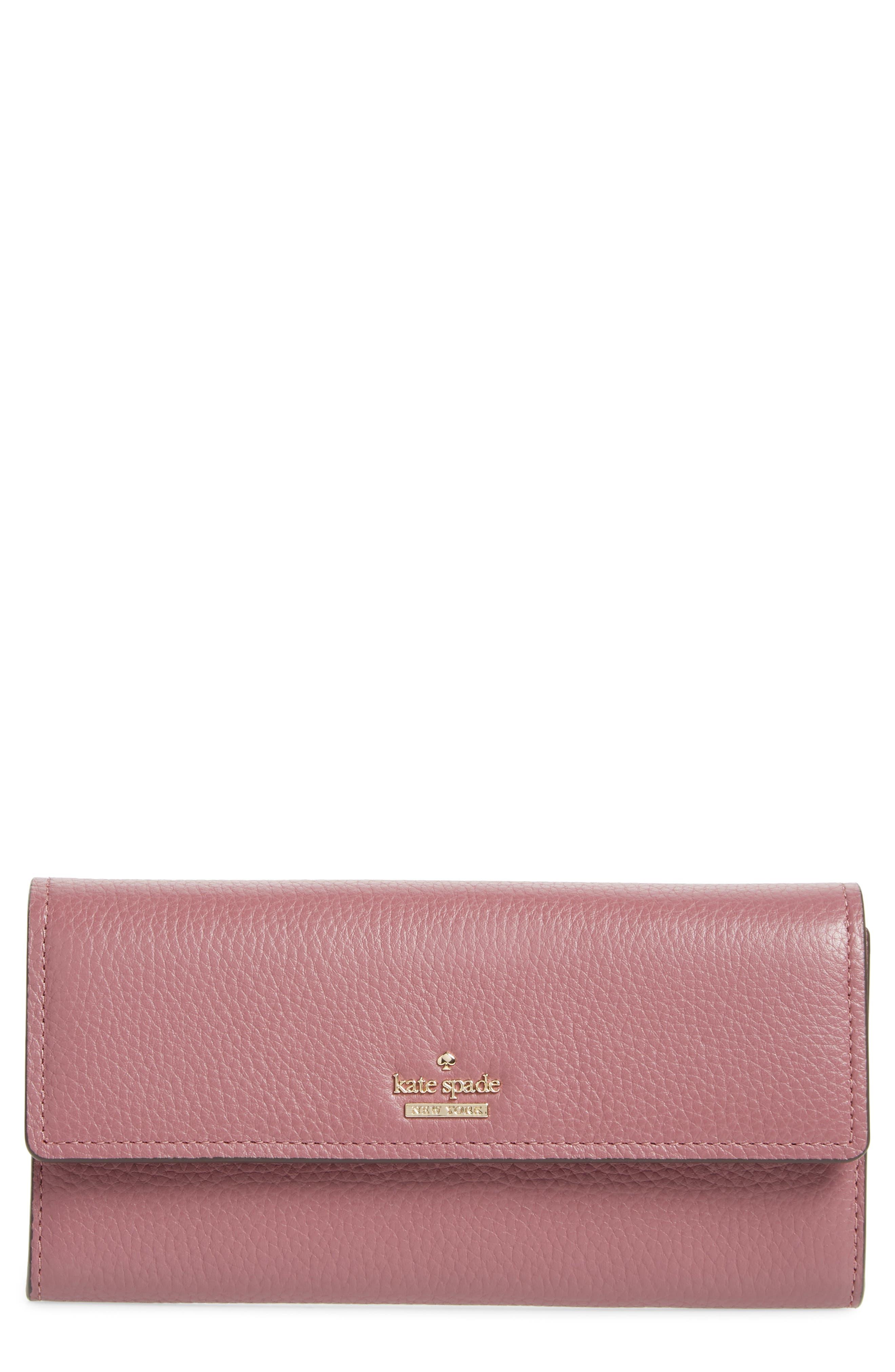 oakwood street – kinsley pebbled leather wallet,                             Main thumbnail 1, color,                             564