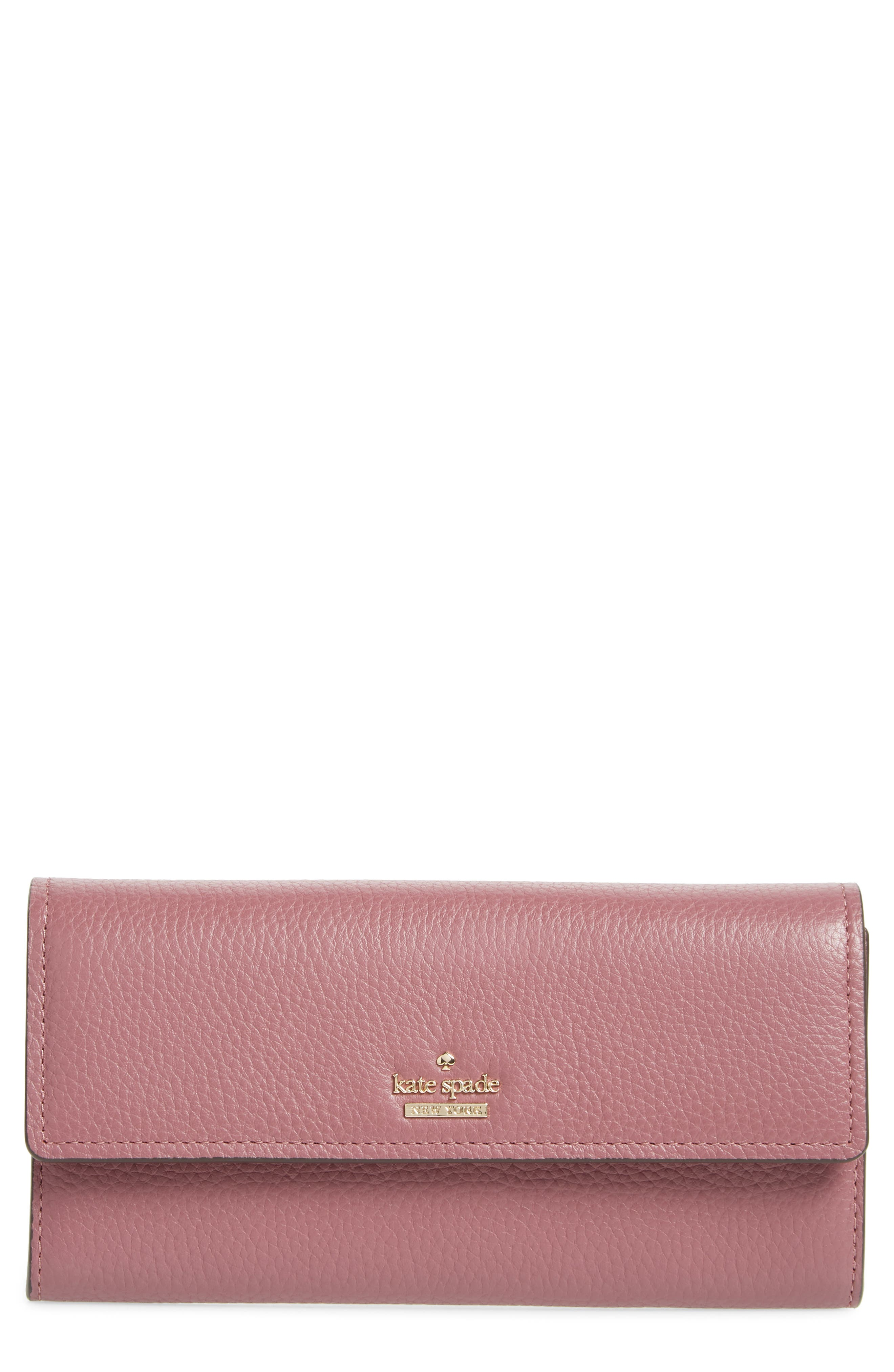 oakwood street – kinsley pebbled leather wallet,                         Main,                         color, 564