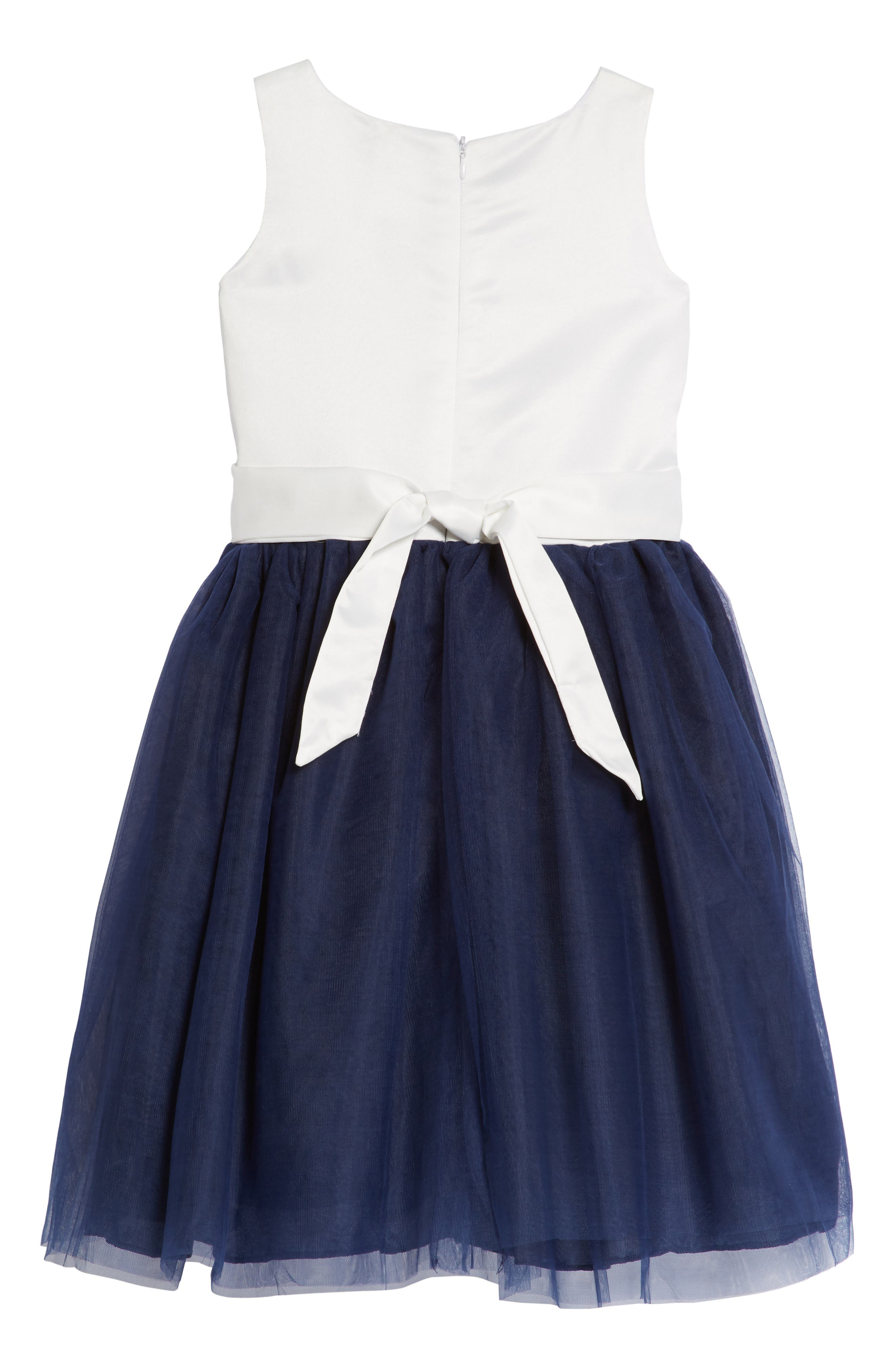 Amy Flower Embellished Tulle Dress,                             Alternate thumbnail 2, color,                             416