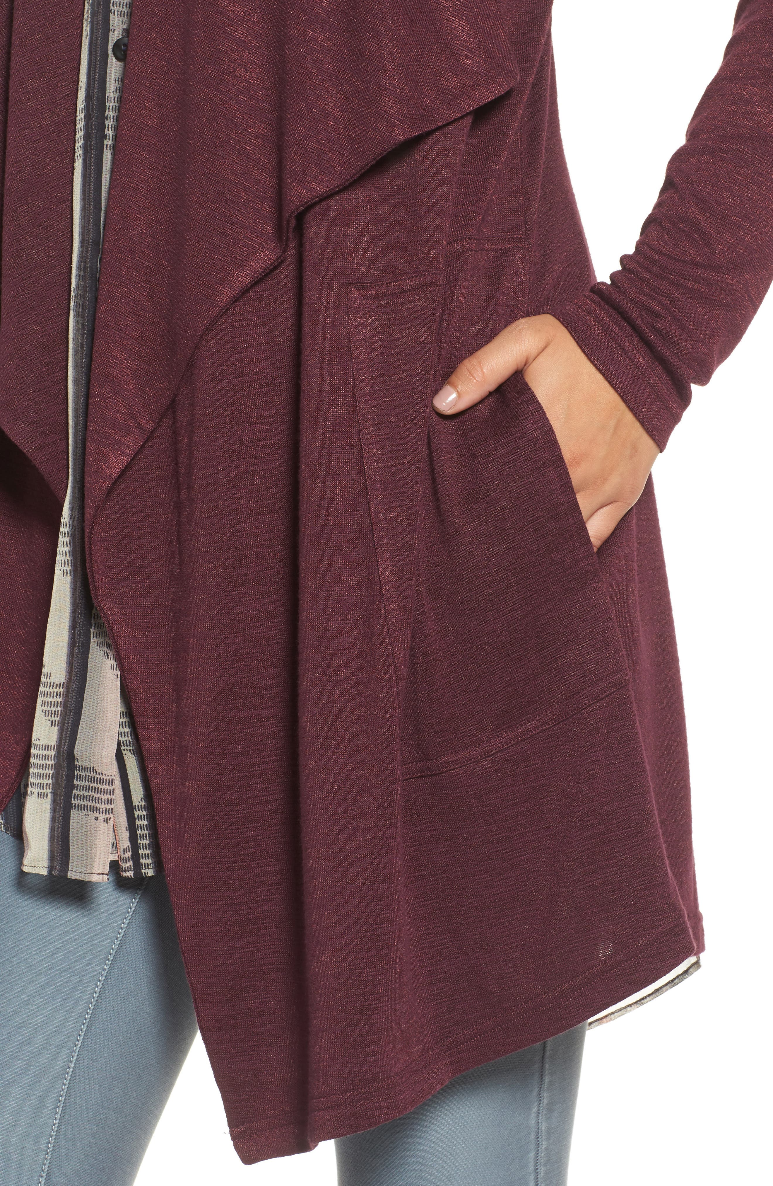 Every Occasion Drape Front Jacket,                             Alternate thumbnail 16, color,