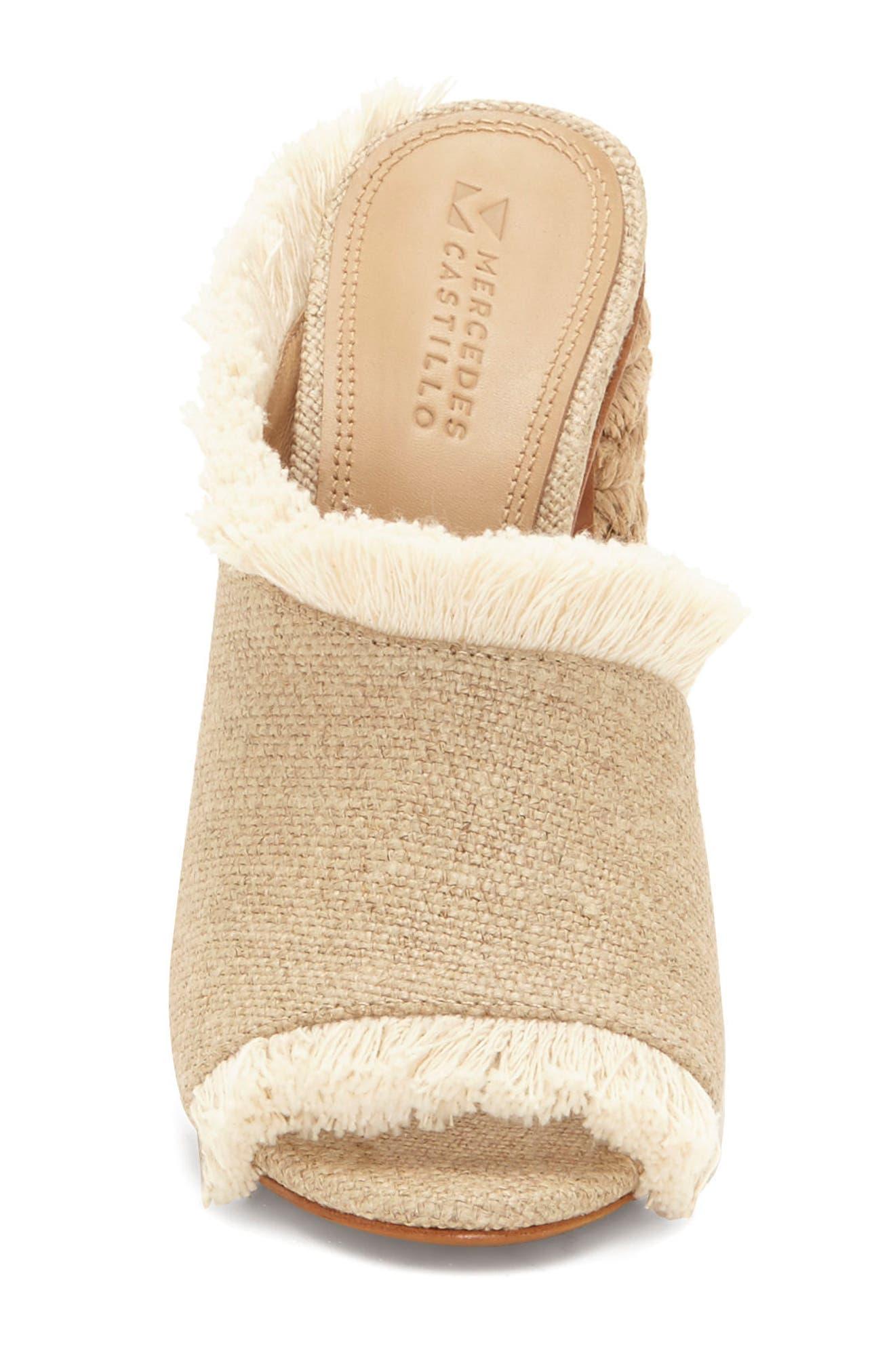 Izar Fringe Asymmetrical Sandal,                             Alternate thumbnail 4, color,                             250