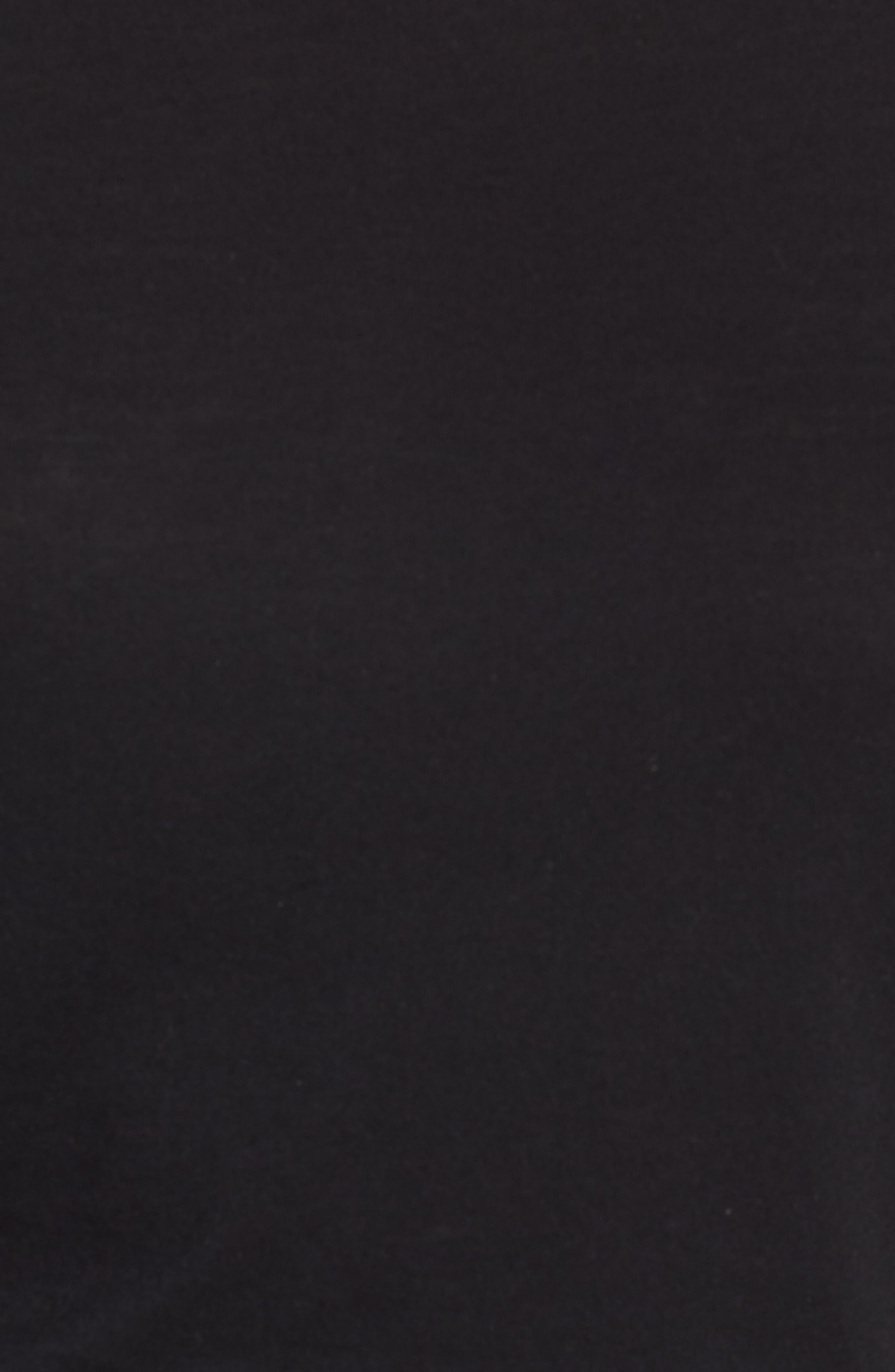 Kimber Flutter Sleeve Tee,                             Alternate thumbnail 6, color,                             BLACK