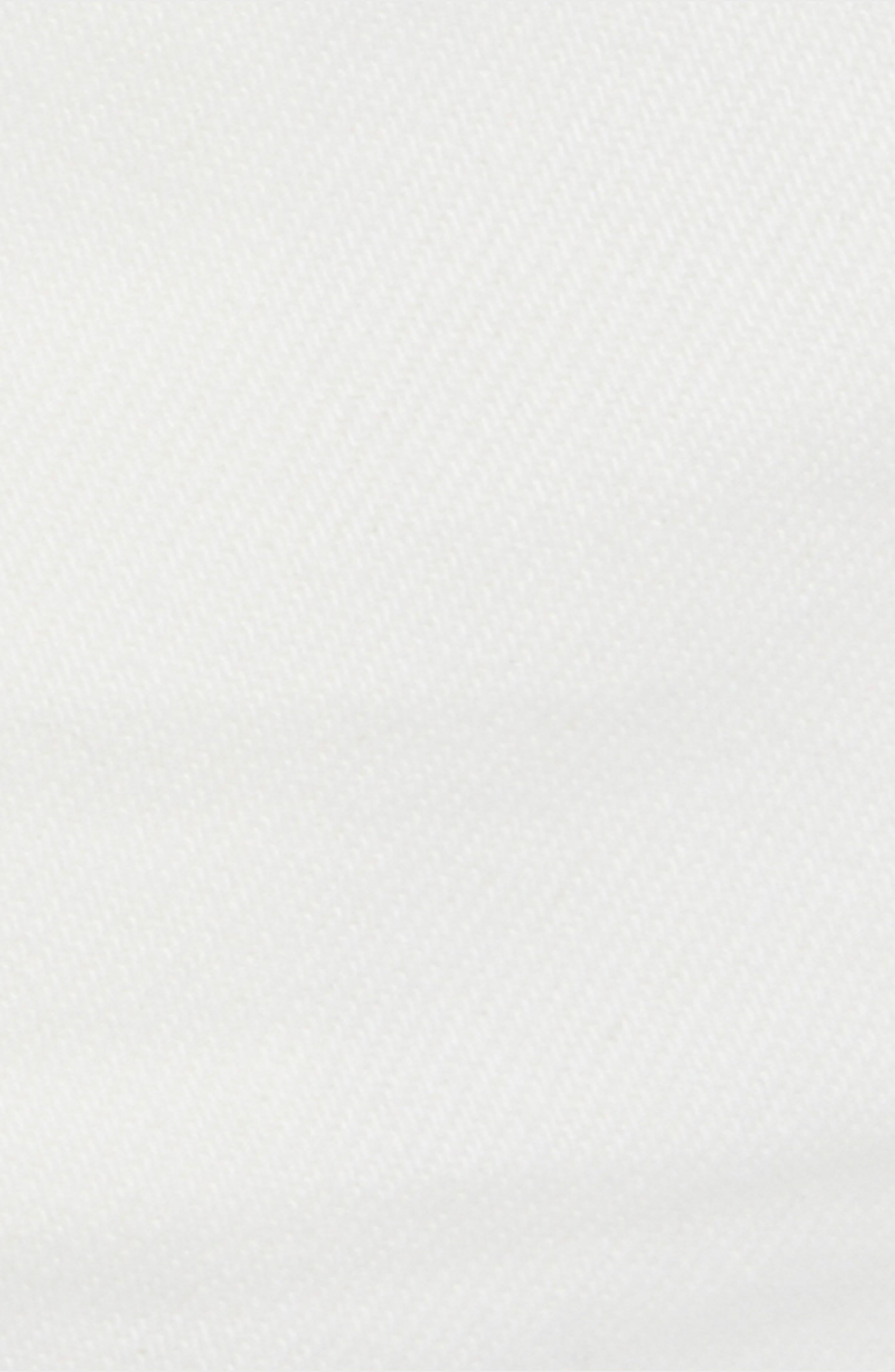 FREE PEOPLE,                             Zip It Up Denim Miniskirt,                             Alternate thumbnail 5, color,                             WHITE