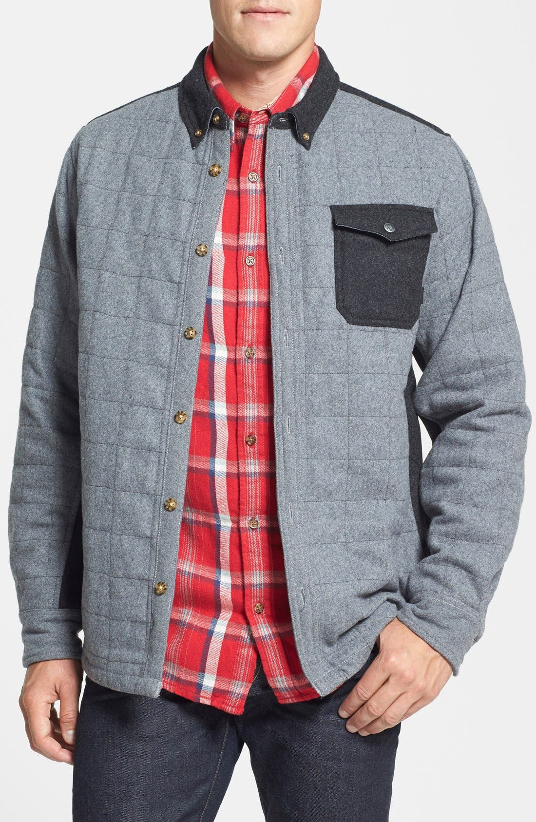 'Mystic' Dryride Ultrawick<sup>™</sup> Quilted Shirt Jacket,                             Main thumbnail 1, color,                             084