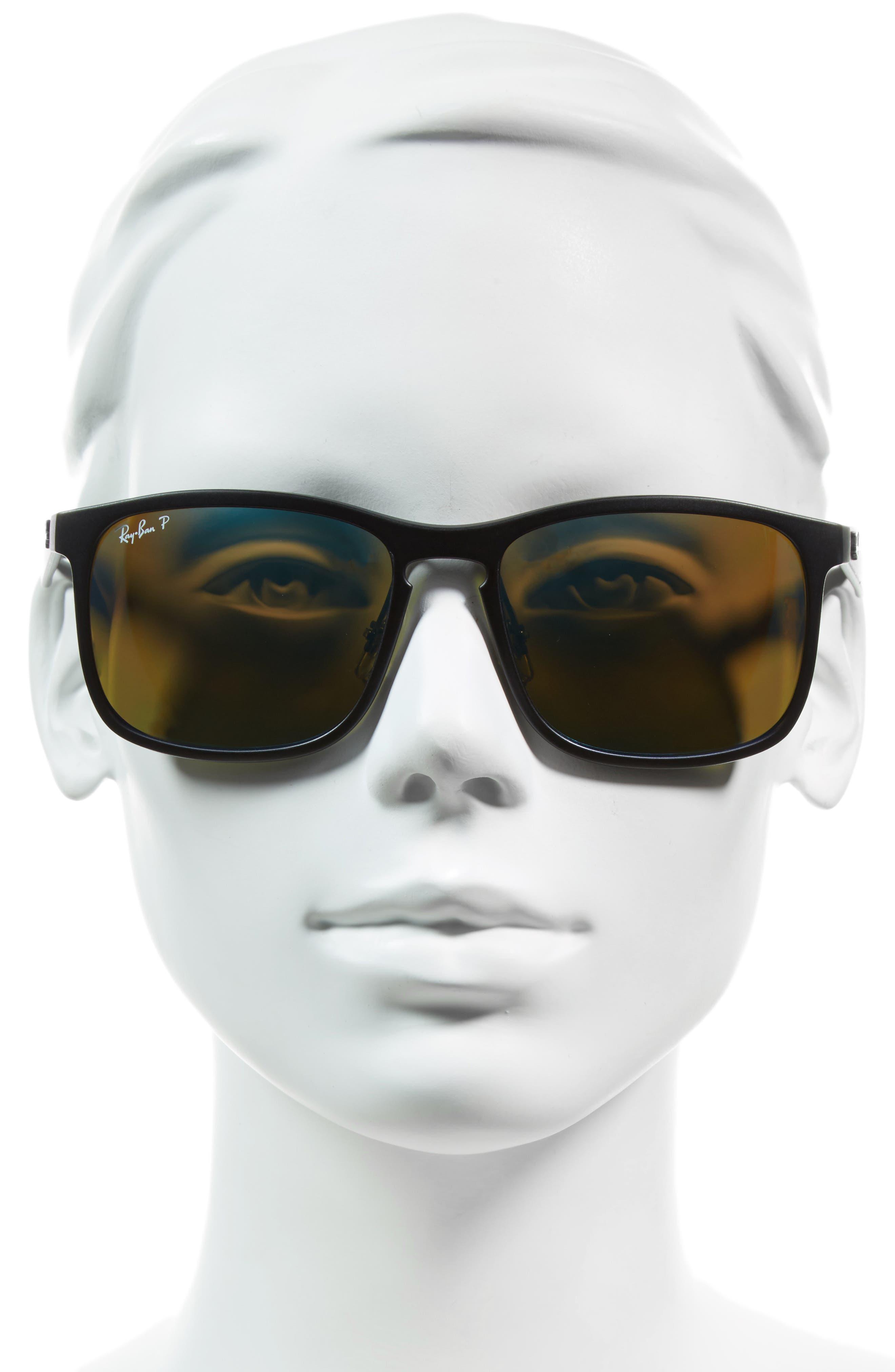 Tech 62mm Polarized Wayfarer Sunglasses,                             Alternate thumbnail 2, color,                             001