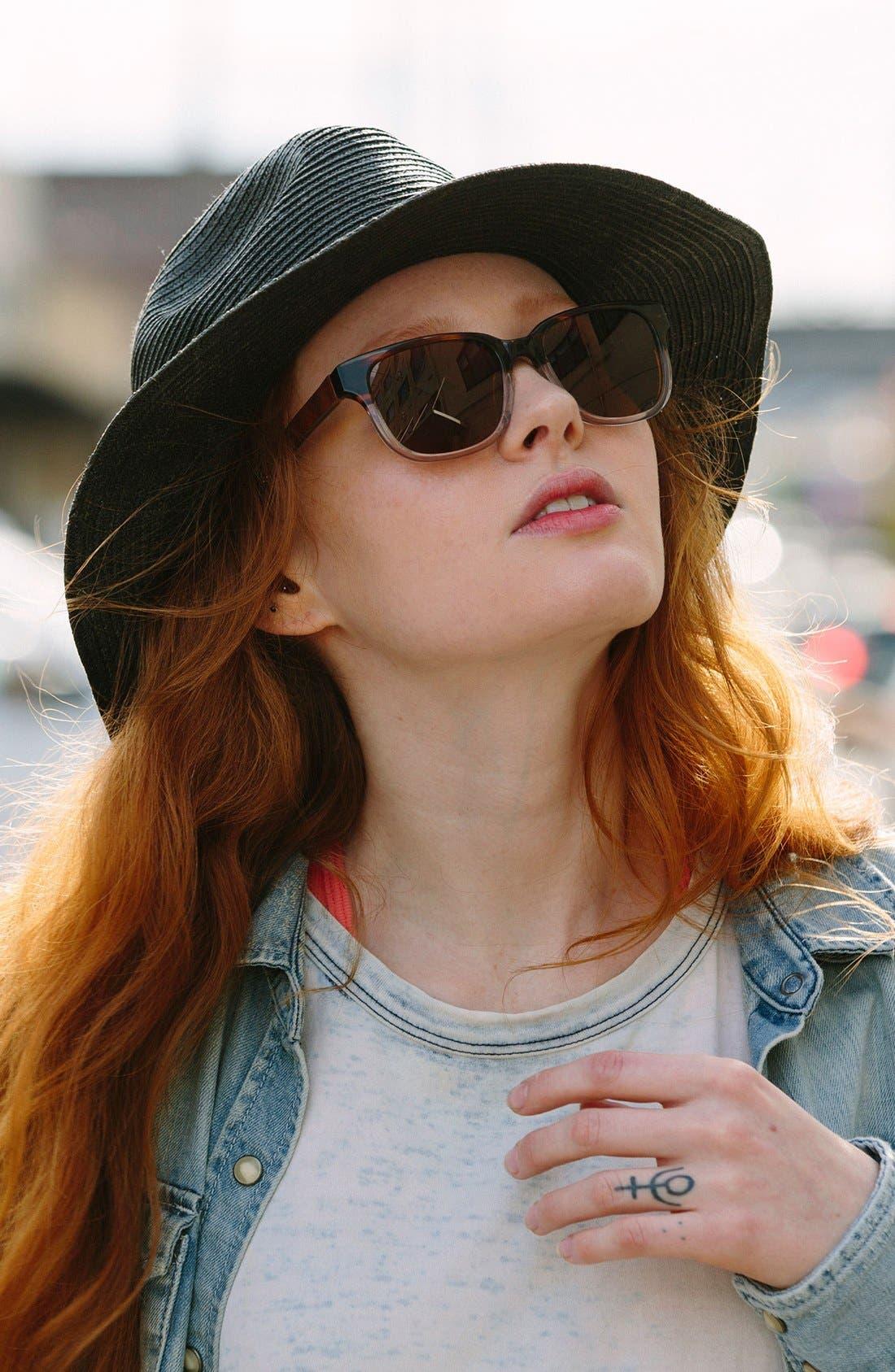 'Prescott' 52mm Polarized Acetate & Wood Sunglasses,                             Alternate thumbnail 2, color,                             222