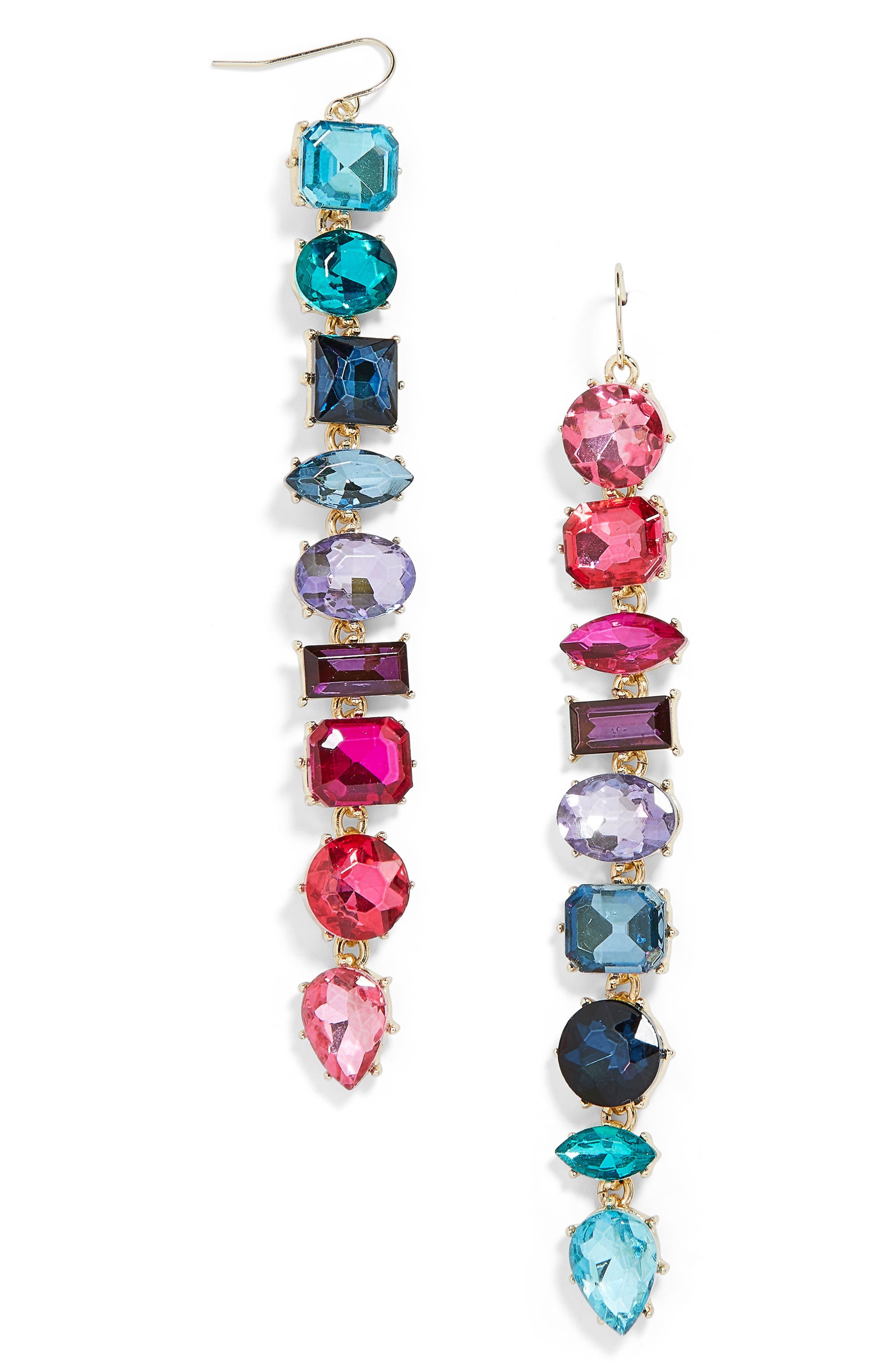 x Micaela Erlanger Date Night Mismatched Drop Earrings,                             Main thumbnail 1, color,                             MULTI/ GOLD