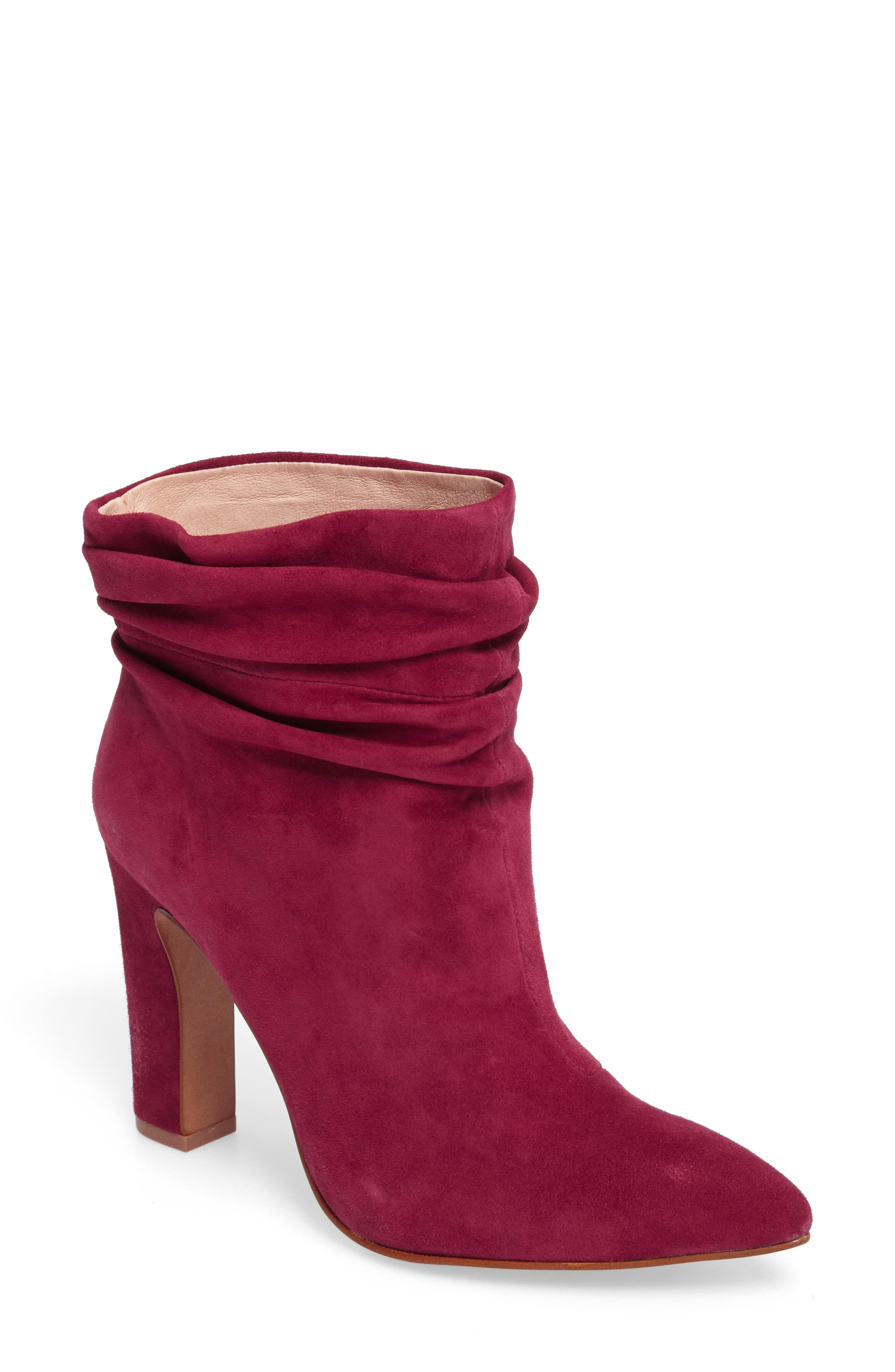 Kane Bootie,                             Main thumbnail 1, color,                             RED SUEDE