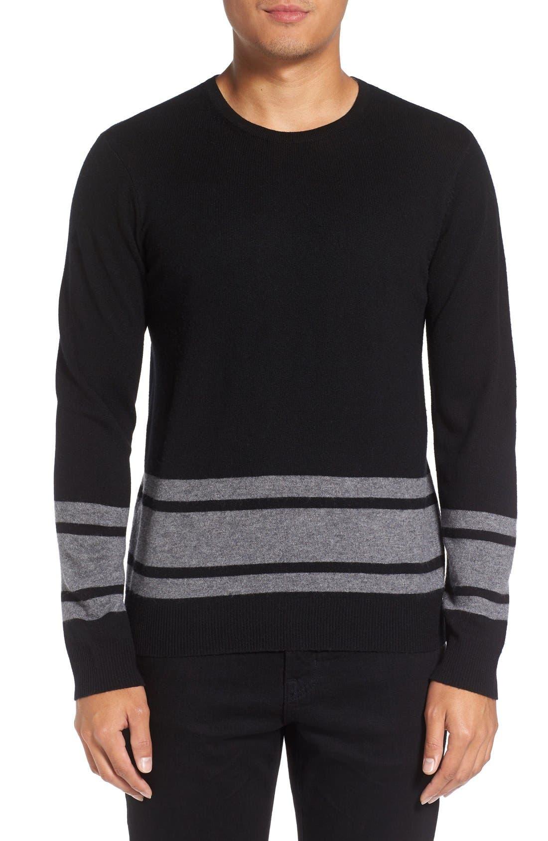 Stripe Wool Blend Sweater,                             Main thumbnail 2, color,