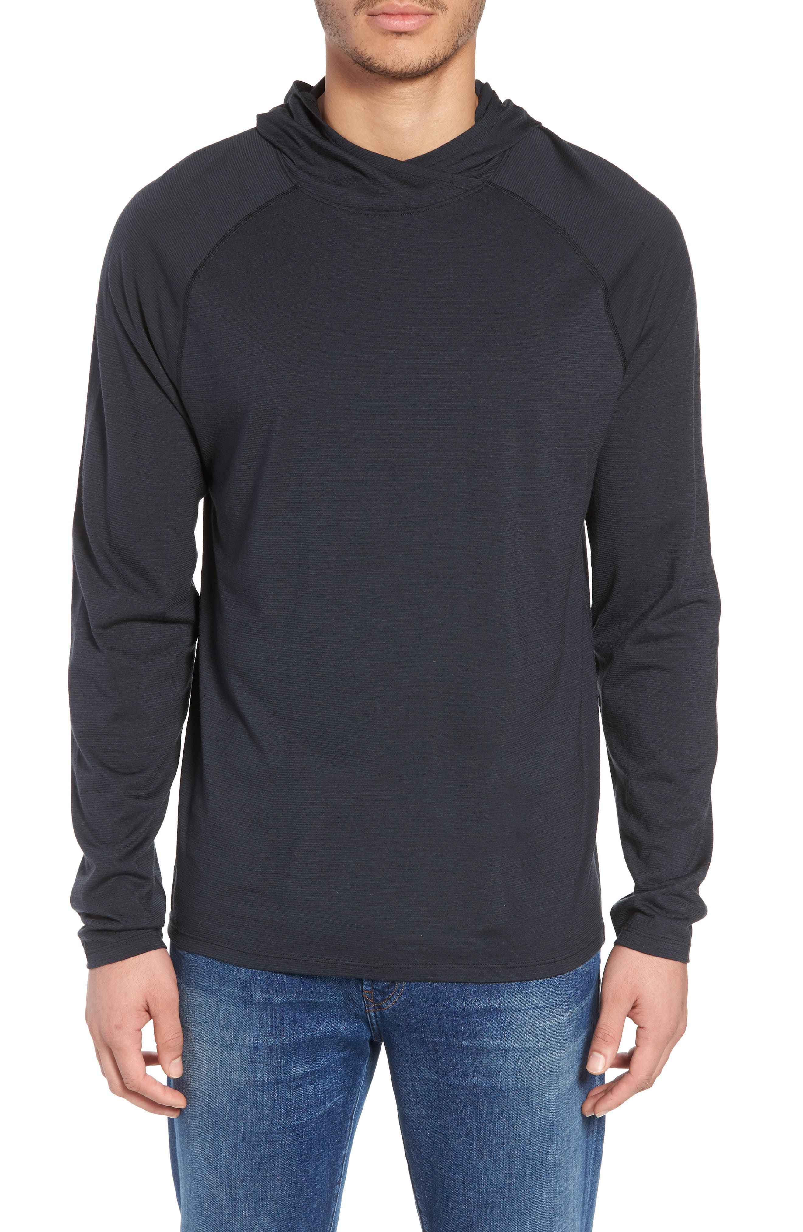 Merino 150 Wool Blend Hoodie,                         Main,                         color, 010