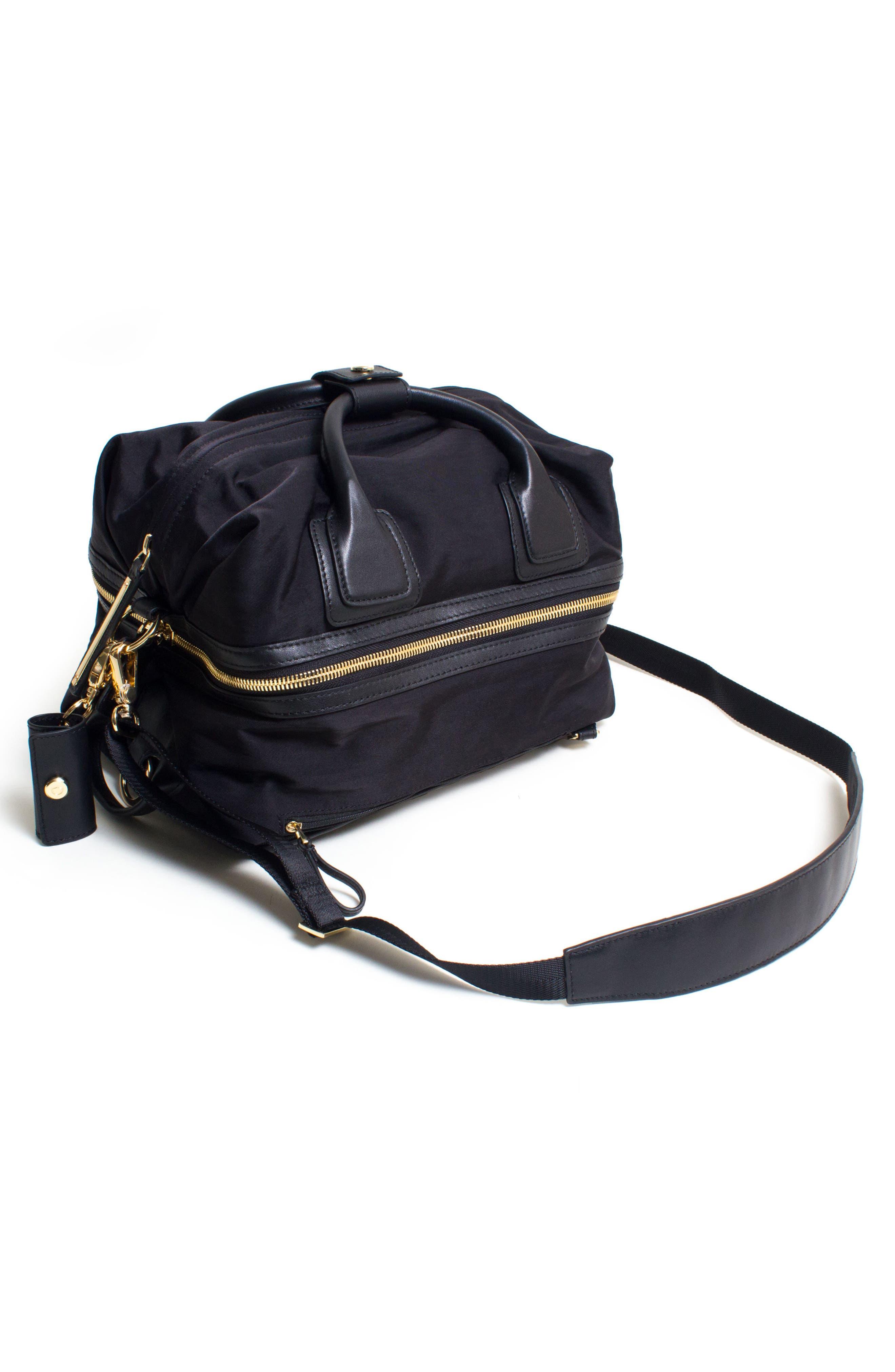 Studio Duffel Backpack,                             Alternate thumbnail 9, color,                             BLACK/ GOLD
