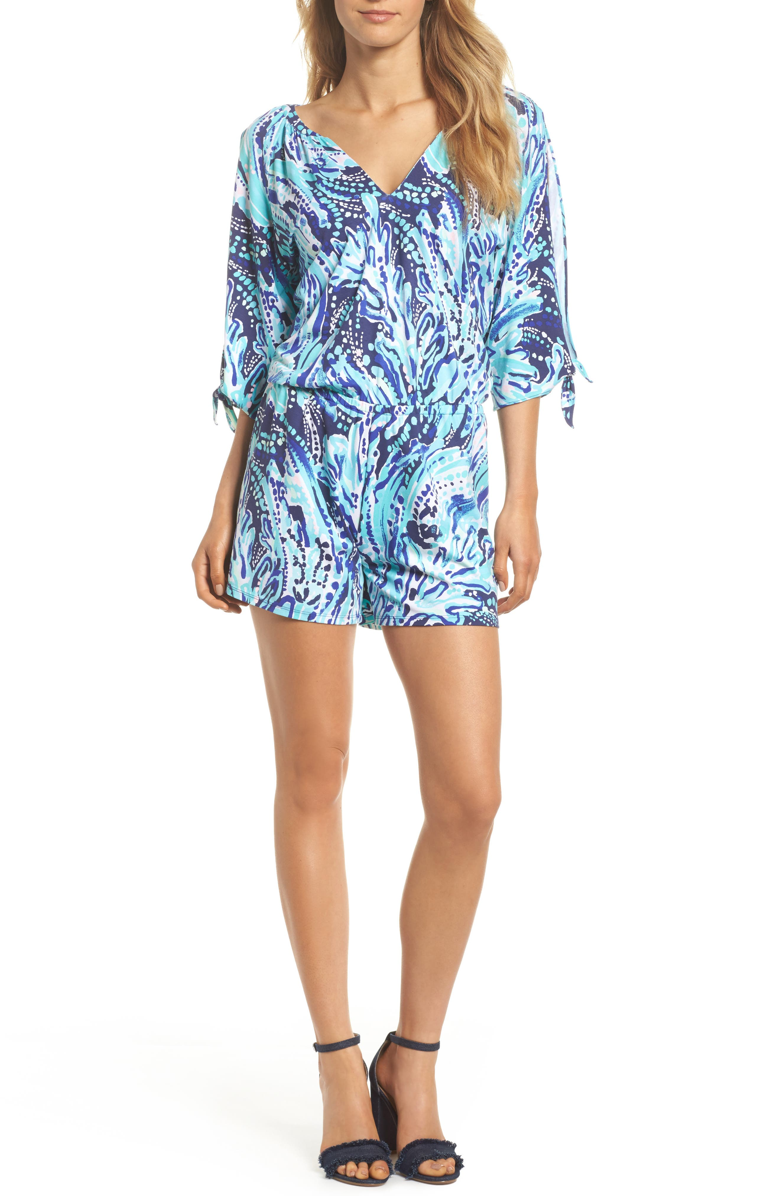 Bryce Split Sleeve Romper,                             Main thumbnail 1, color,                             410