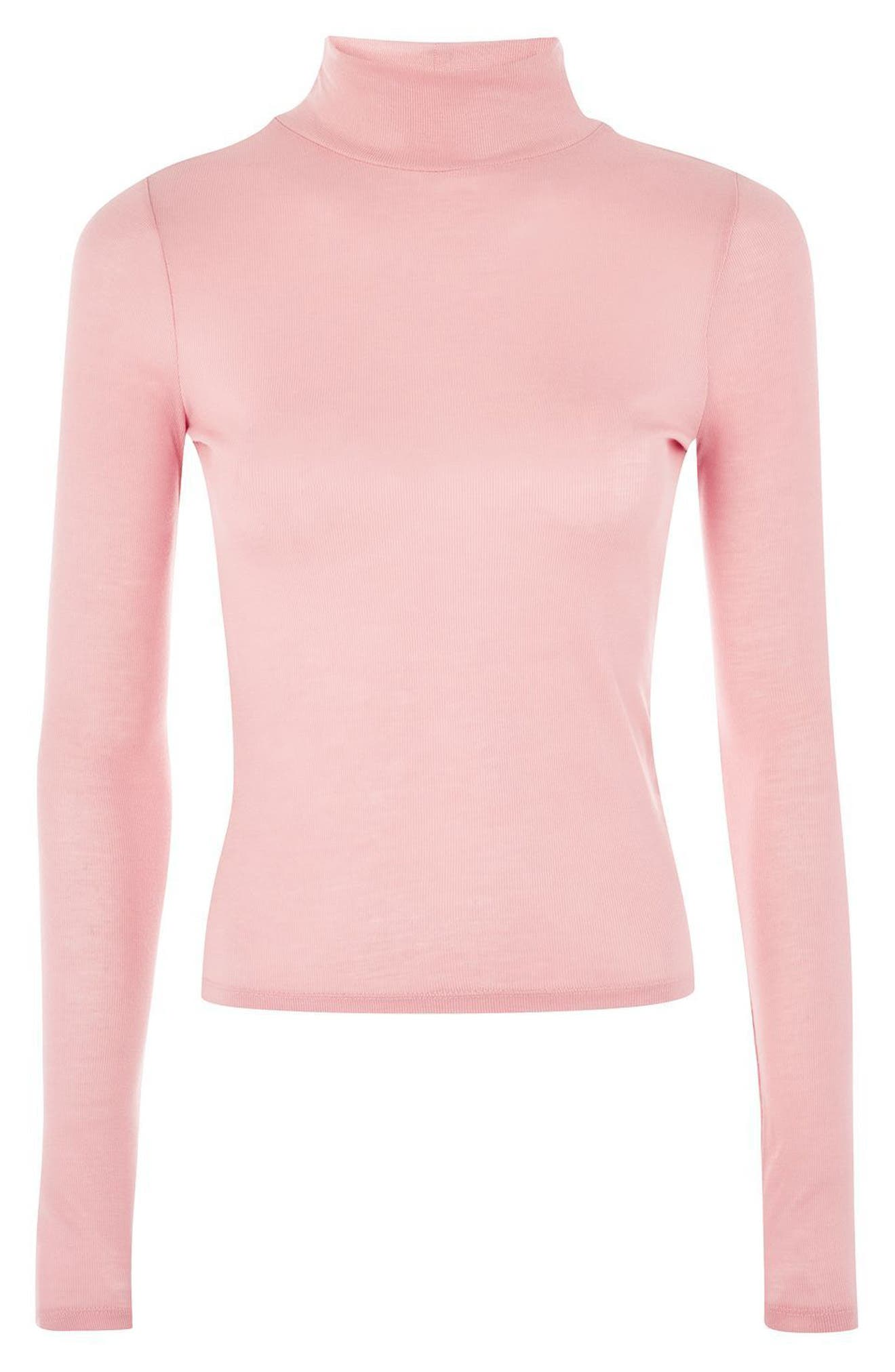 Ribbed Turtleneck Top,                             Alternate thumbnail 22, color,