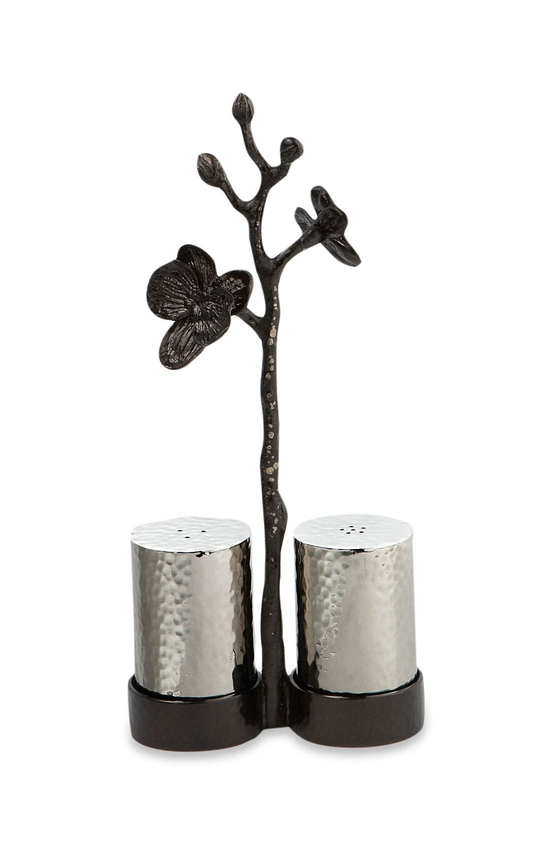 'Black Orchid' Salt & Pepper Shakers,                             Main thumbnail 1, color,                             000